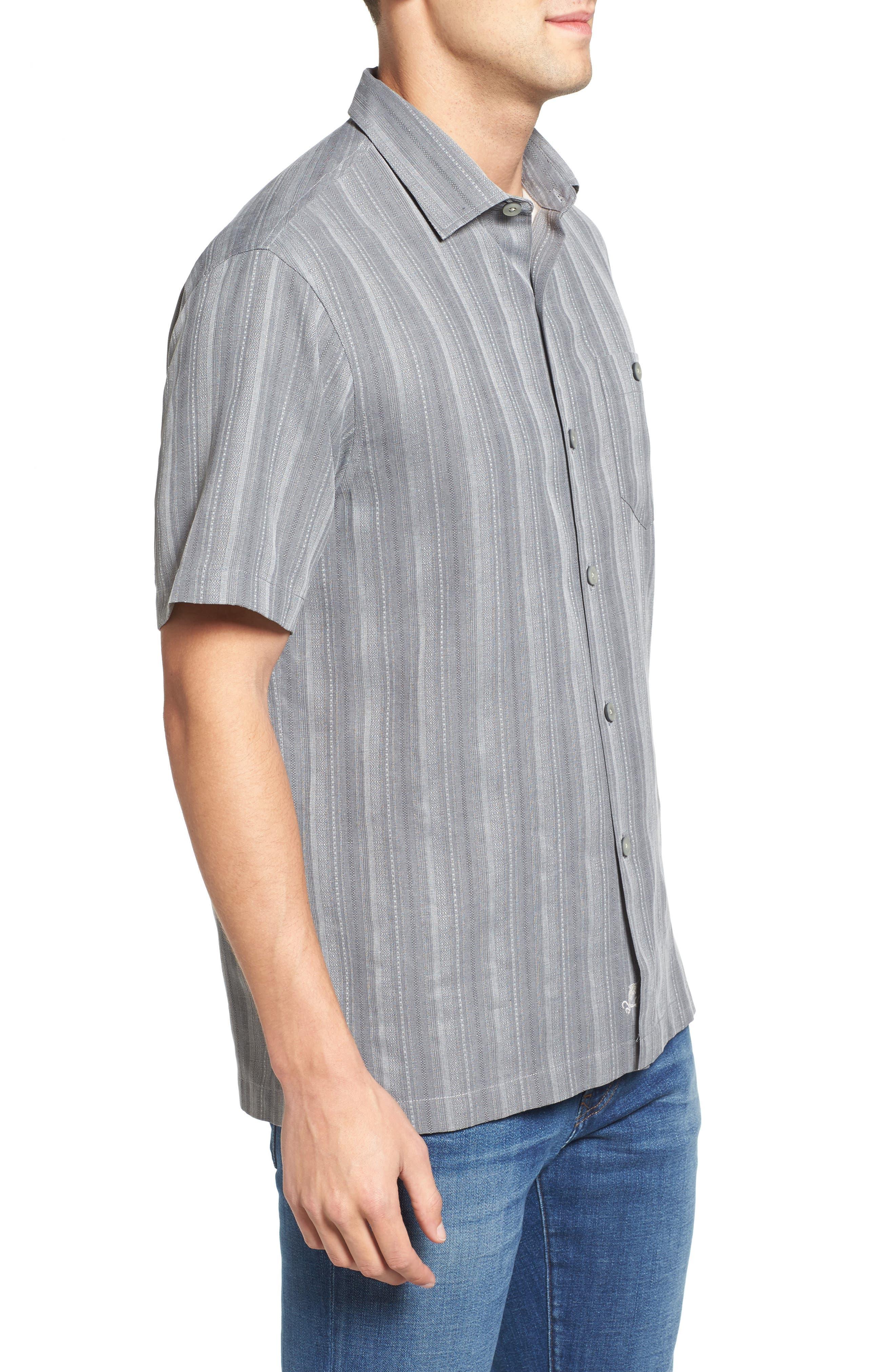 Zaldera Stripe Silk Camp Shirt,                             Alternate thumbnail 3, color,                             050