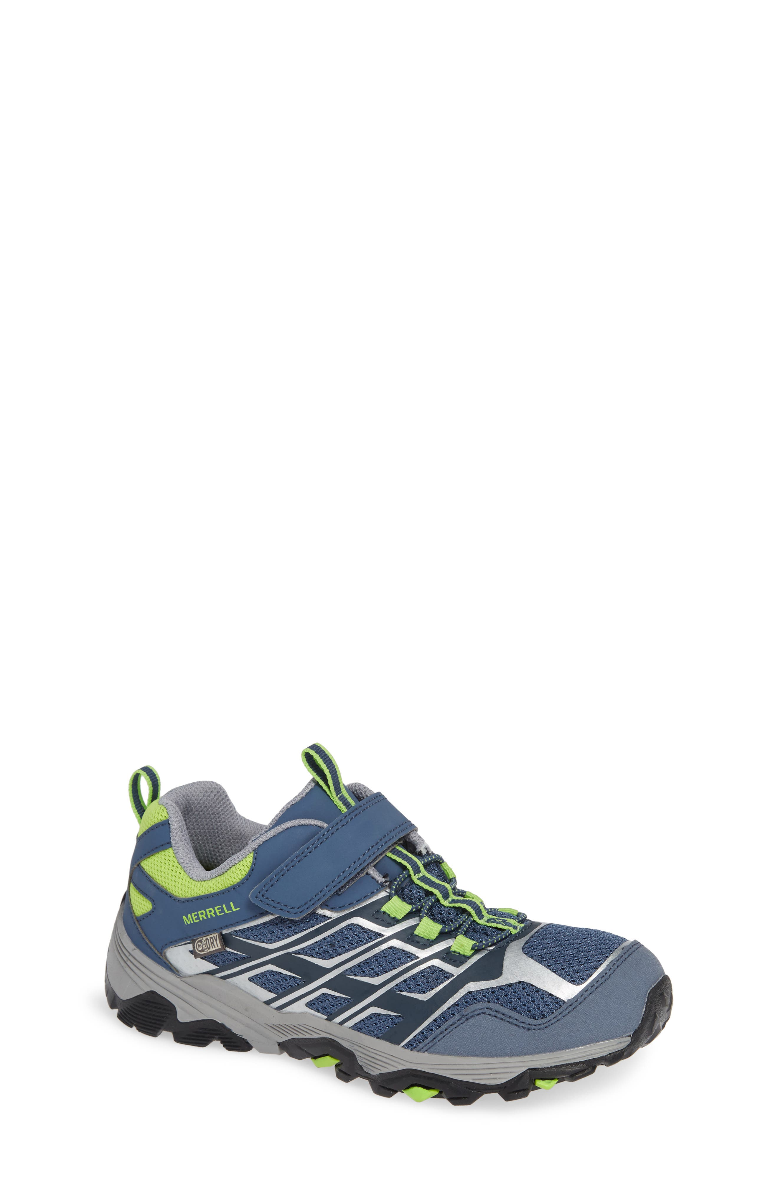 Moab FST Polar Low Waterproof Sneaker,                         Main,                         color, GREY/ GREEN