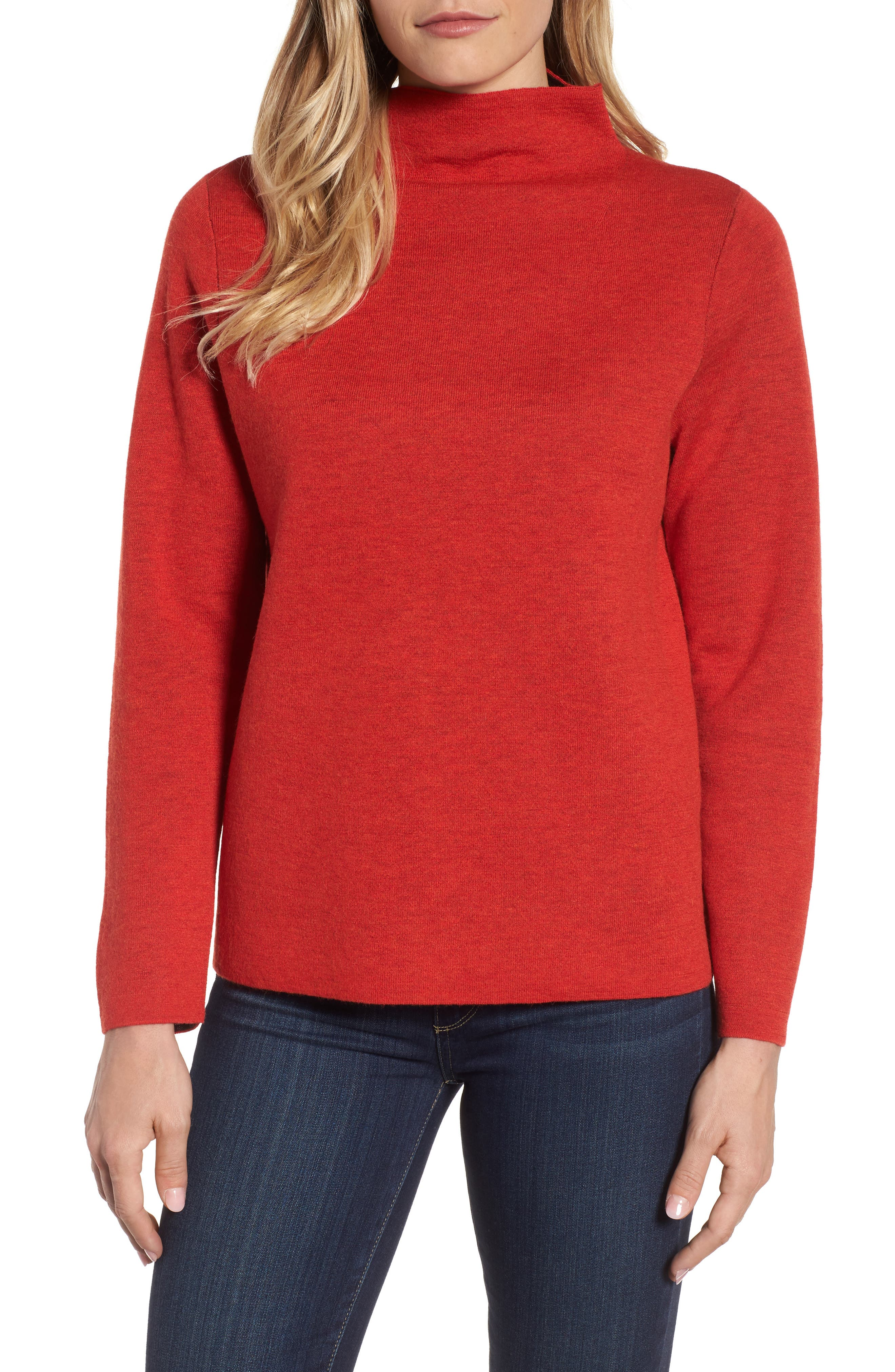 Funnel Neck Sweater,                             Main thumbnail 2, color,