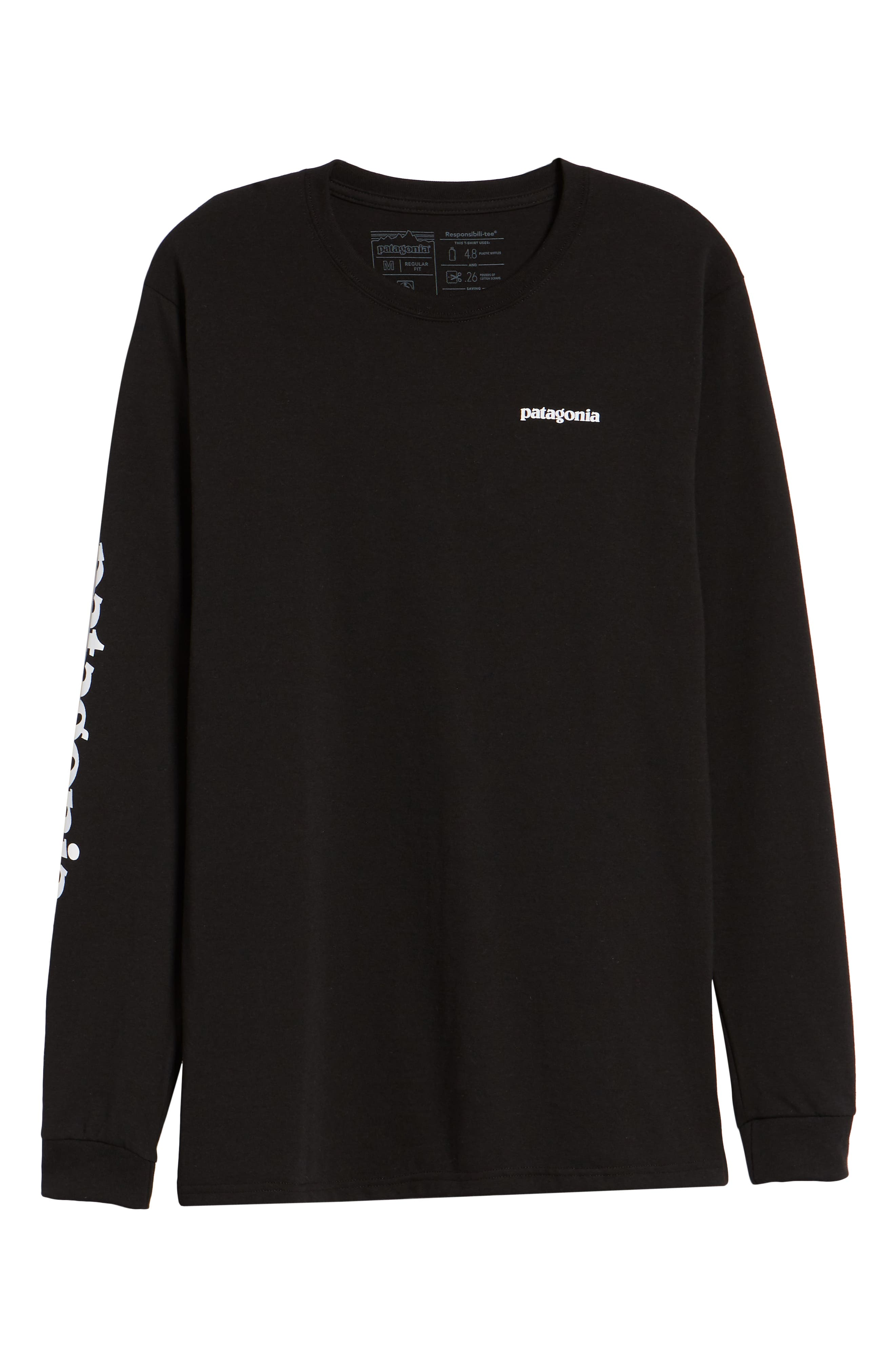 Long Sleeve Logo T-Shirt,                             Alternate thumbnail 6, color,                             BLACK