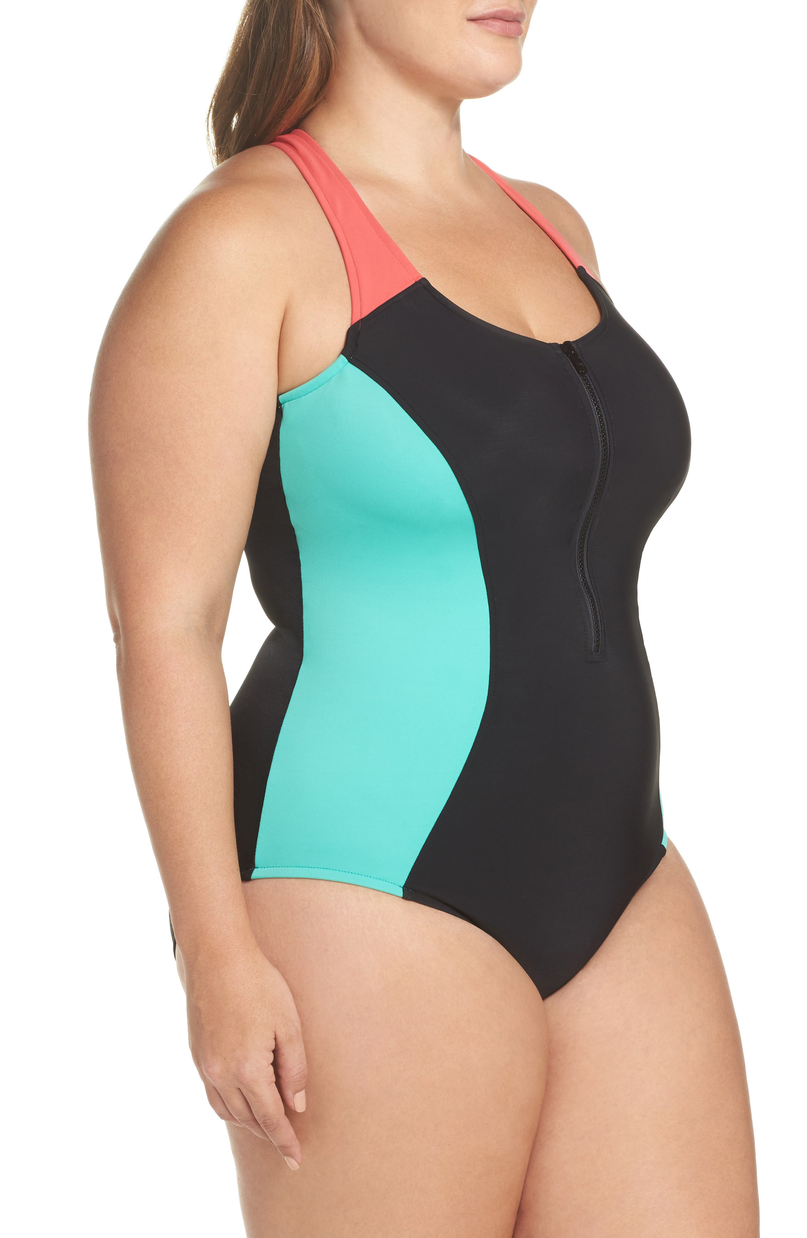 Dive In Nikki One-Piece Swimsuit,                             Alternate thumbnail 3, color,                             003
