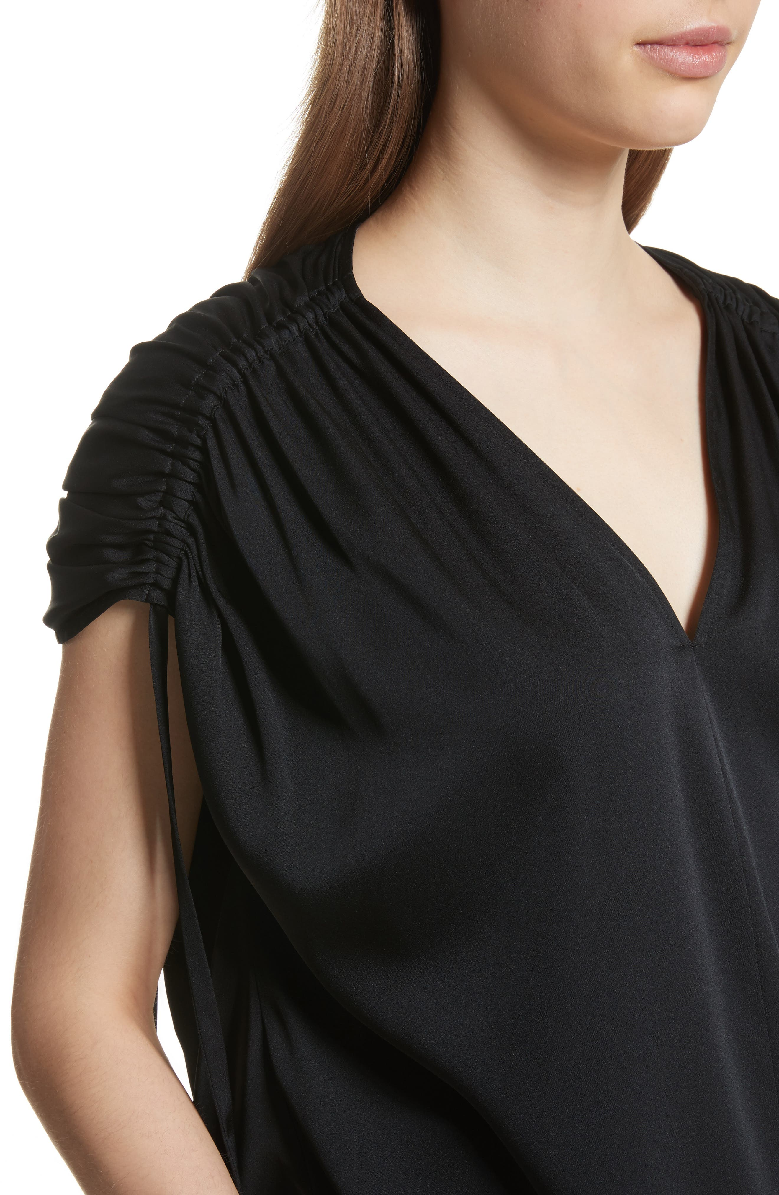 Ruched Silk Top,                             Alternate thumbnail 7, color,