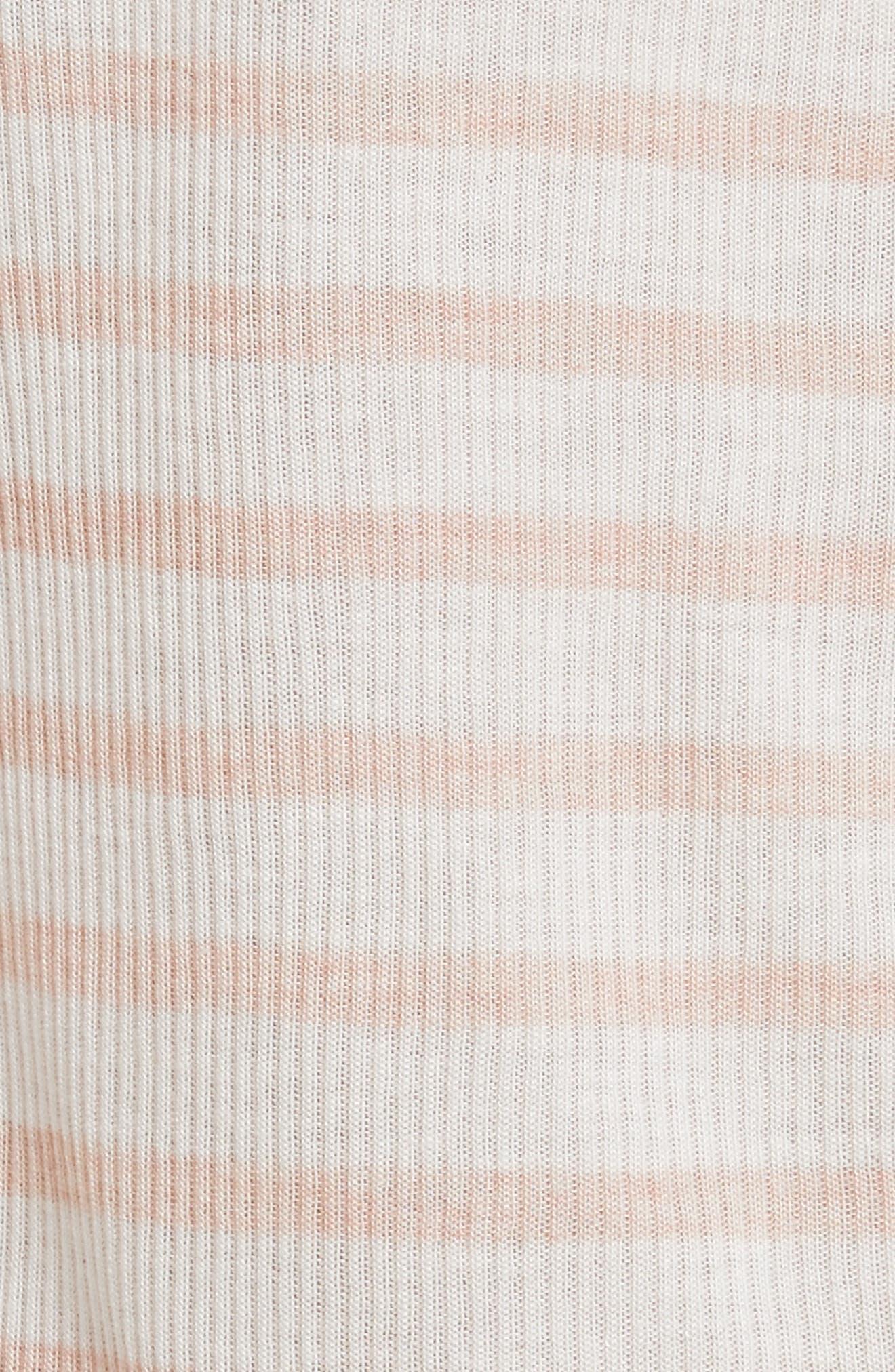 Madison Stripe Long Sleeve Top,                             Alternate thumbnail 5, color,                             900