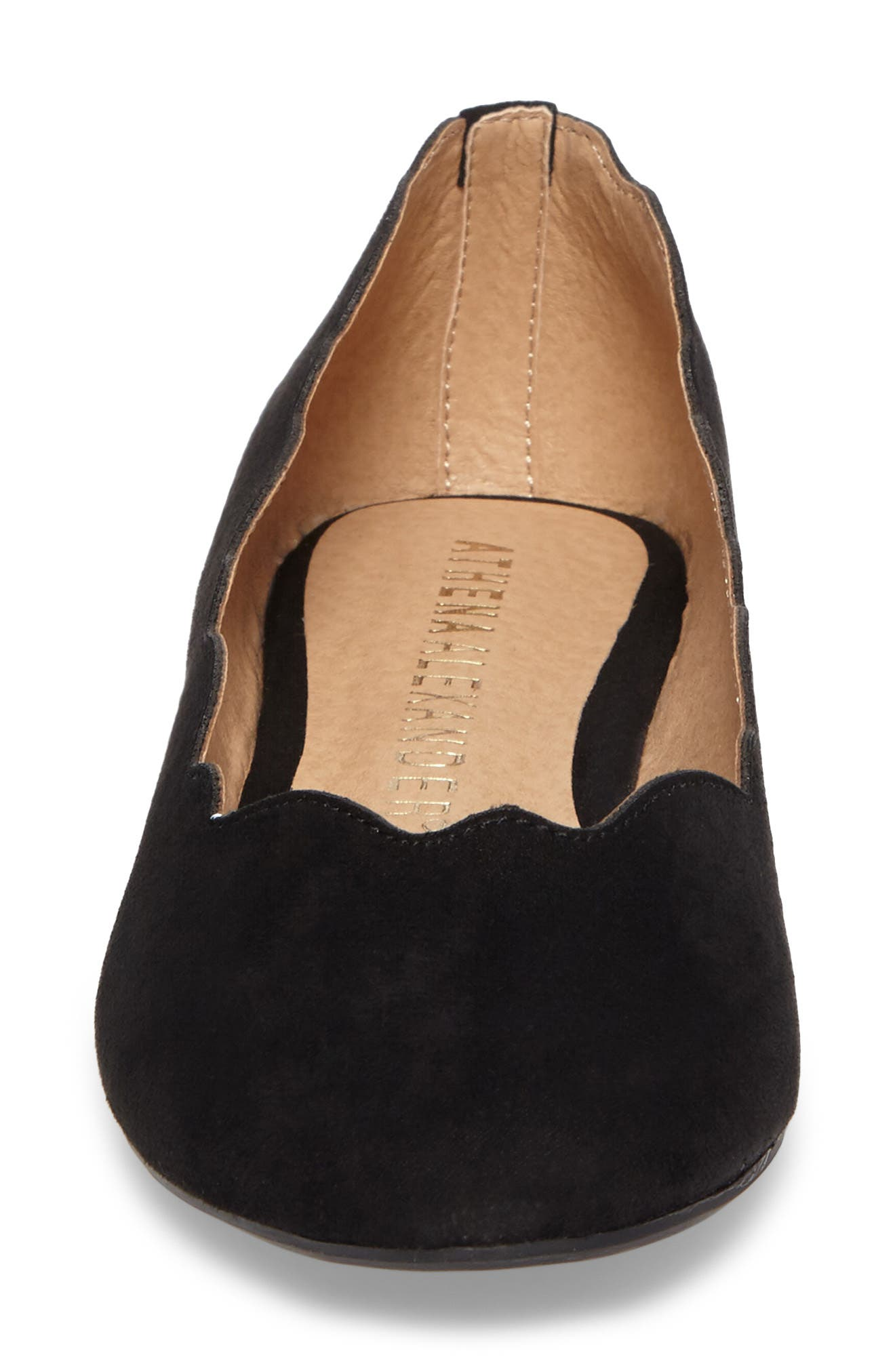 Tallye Ballet Flat,                             Alternate thumbnail 4, color,                             BLACK FAUX SUEDE
