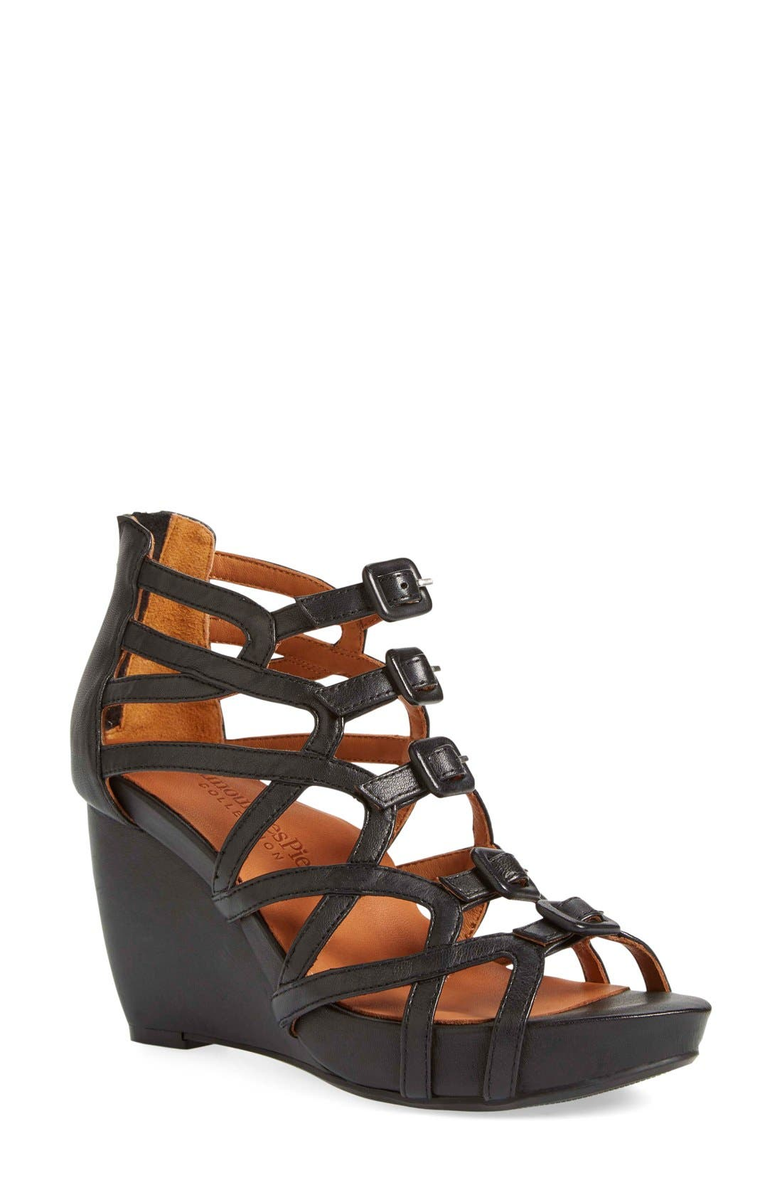 Ivanna' Gladiator Wedge Sandal,                             Main thumbnail 3, color,