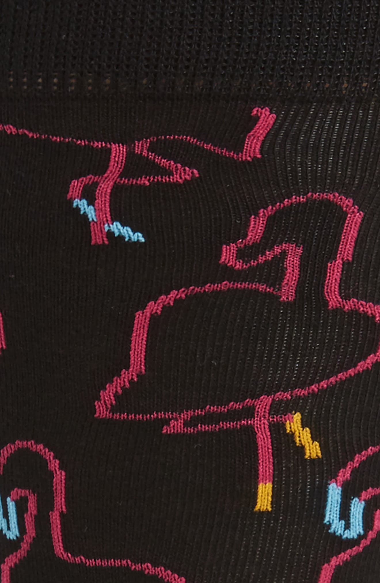 Flamingo Socks,                             Alternate thumbnail 2, color,