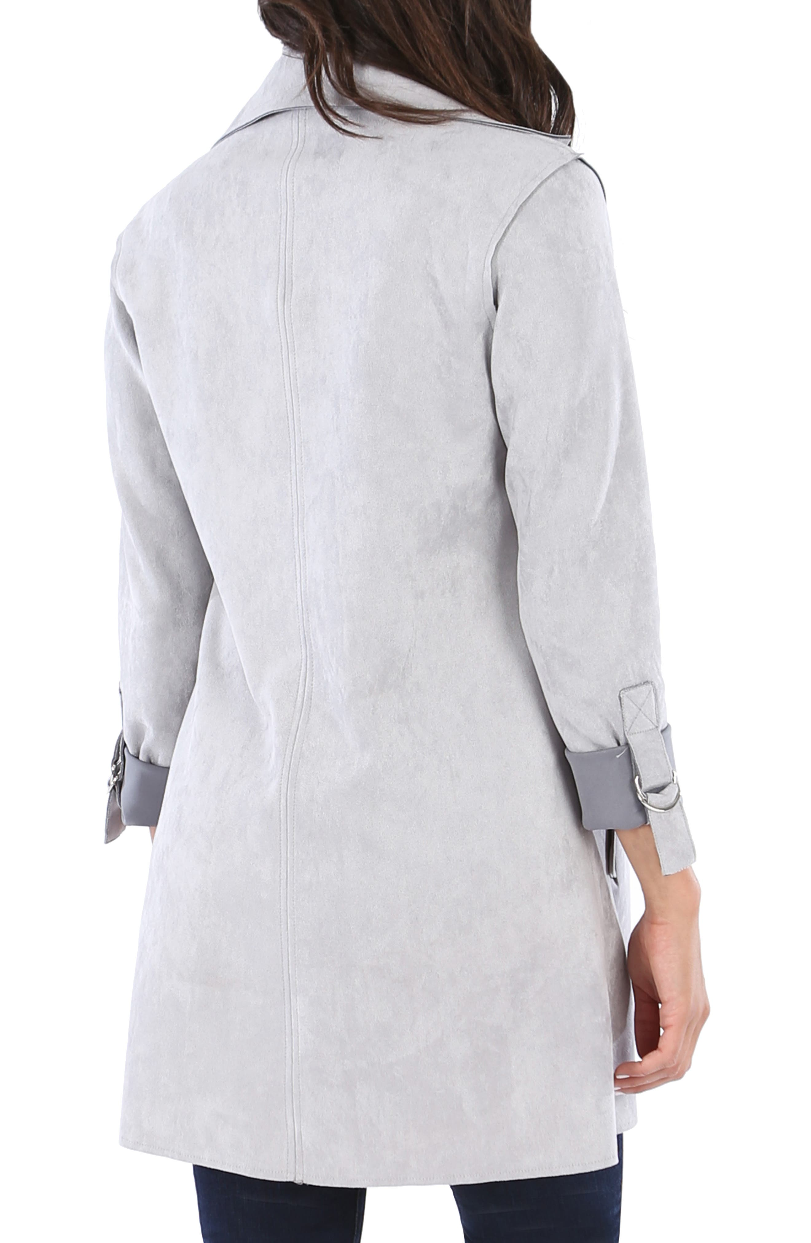 KUT FROM THE KLOTH,                             Faye Long Jacket,                             Alternate thumbnail 2, color,                             SILVER