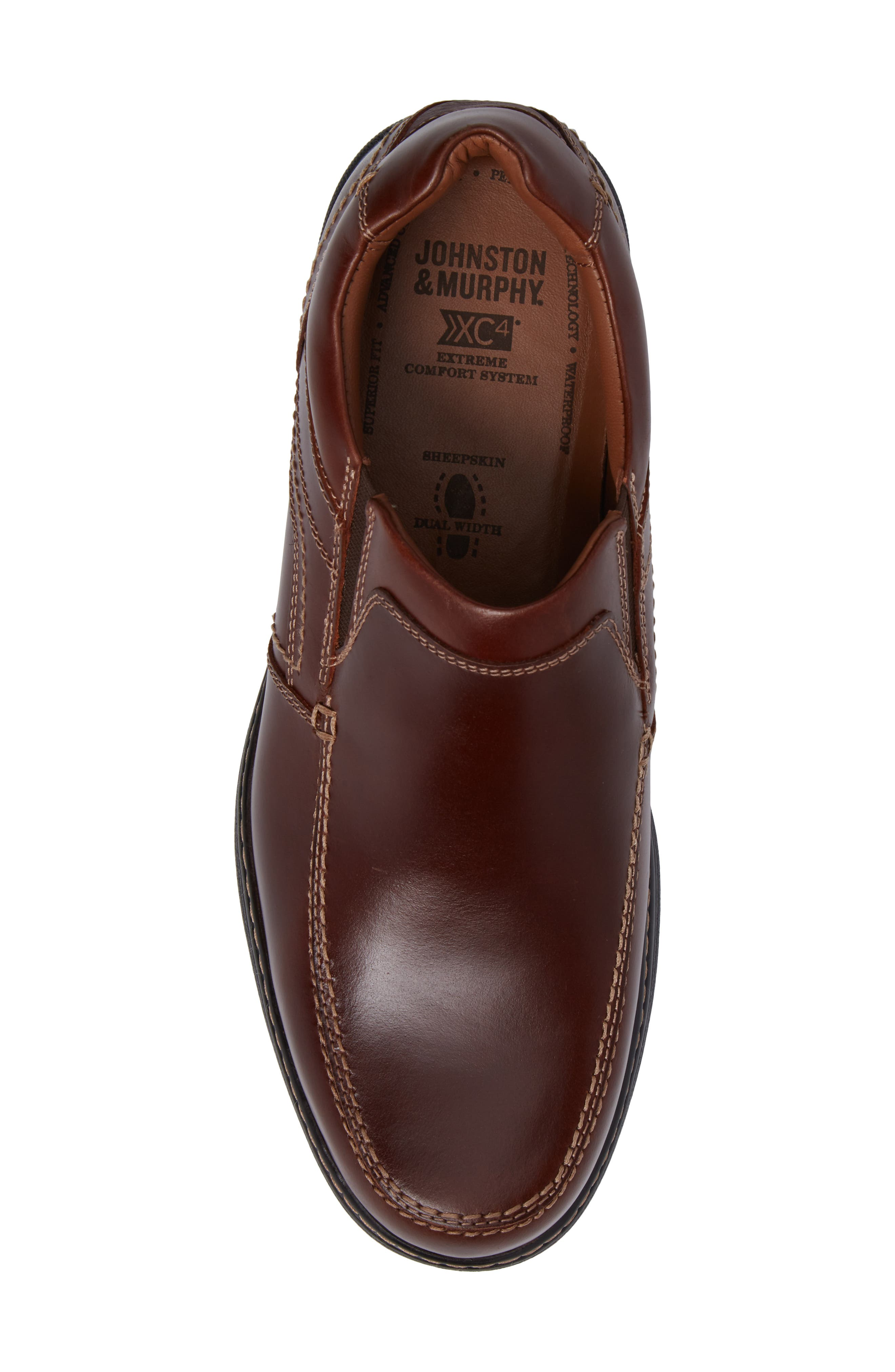 Windham Waterproof Venetian Loafer,                             Alternate thumbnail 5, color,                             MAHOGANY
