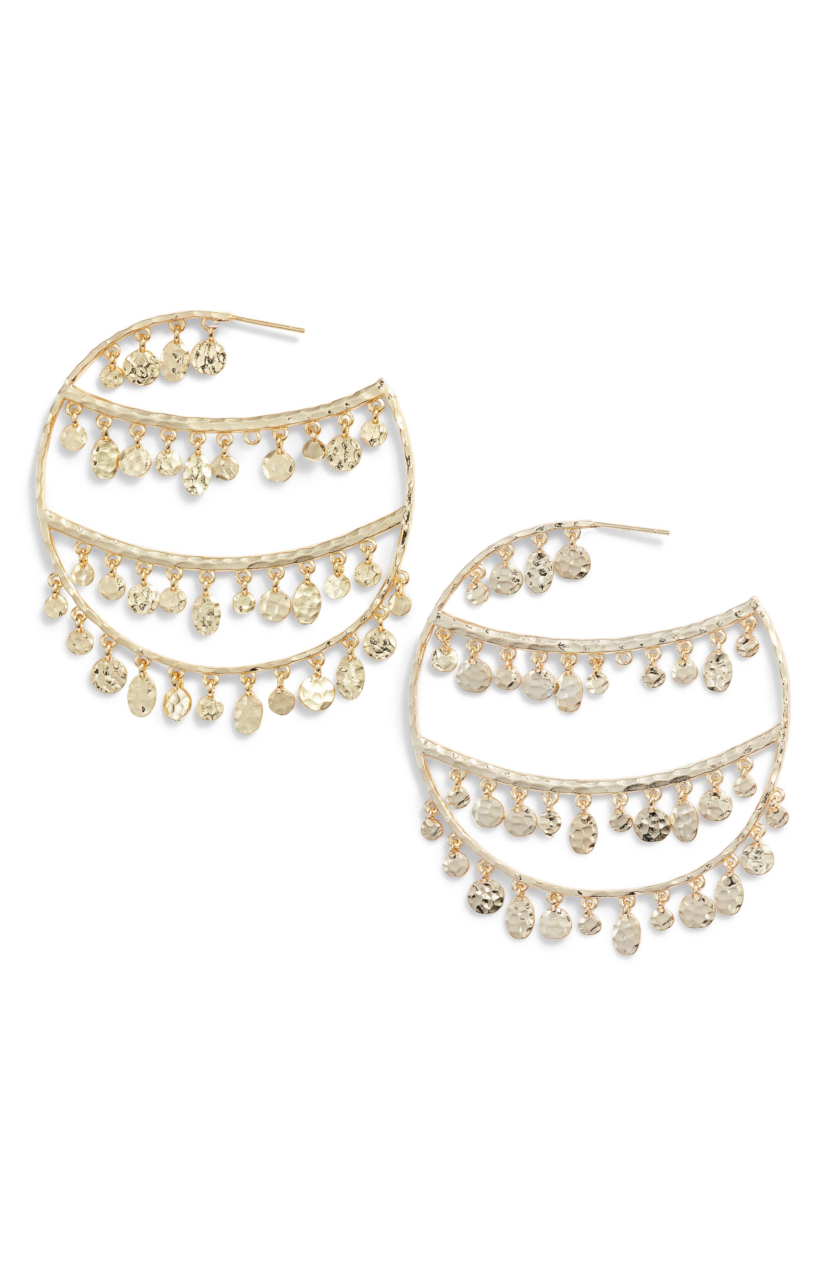 MELINDA MARIA Rochelle Hoop Earrings in Gold