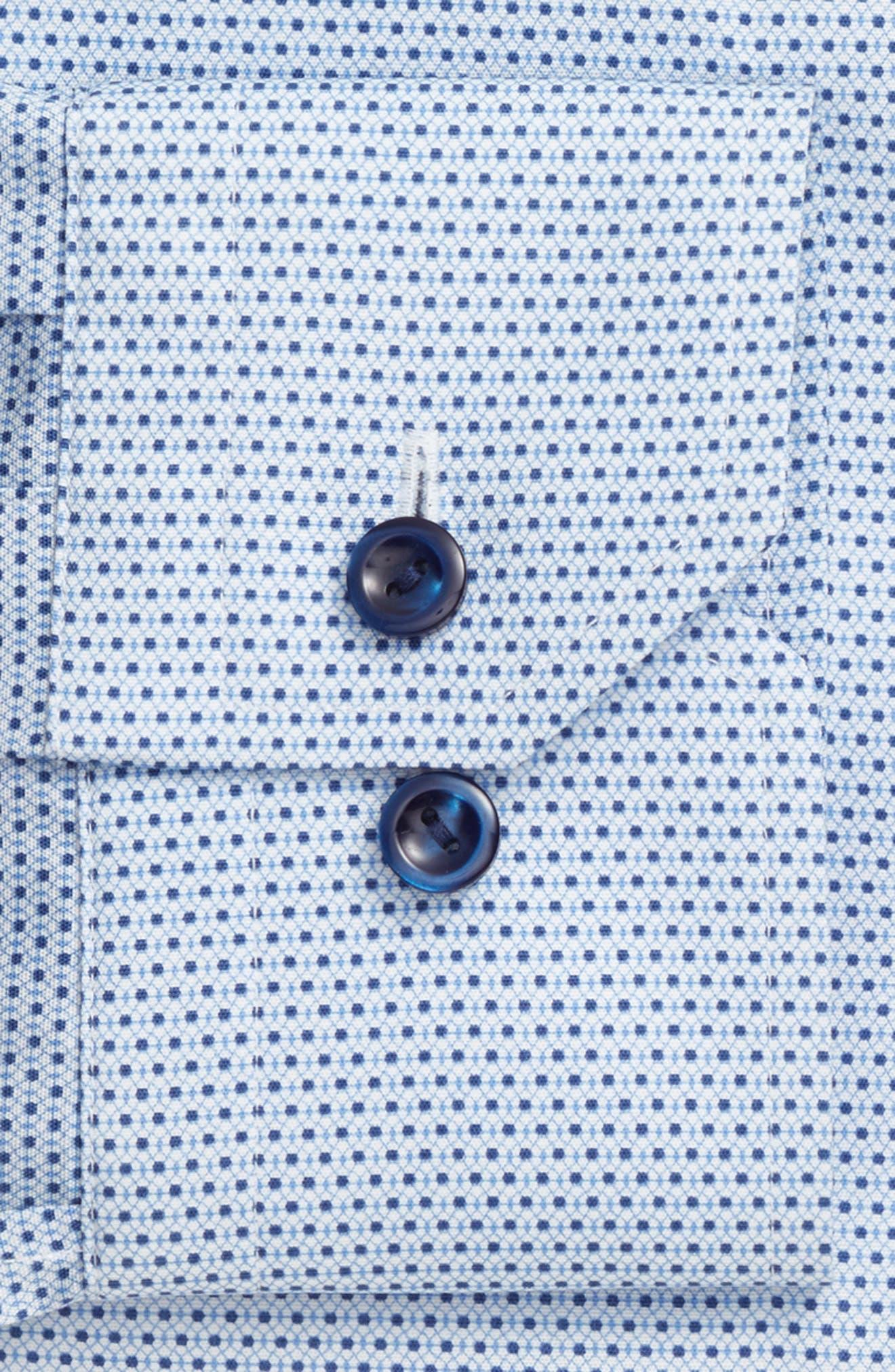 Slim Fit Geometric Dress Shirt,                             Alternate thumbnail 4, color,                             400
