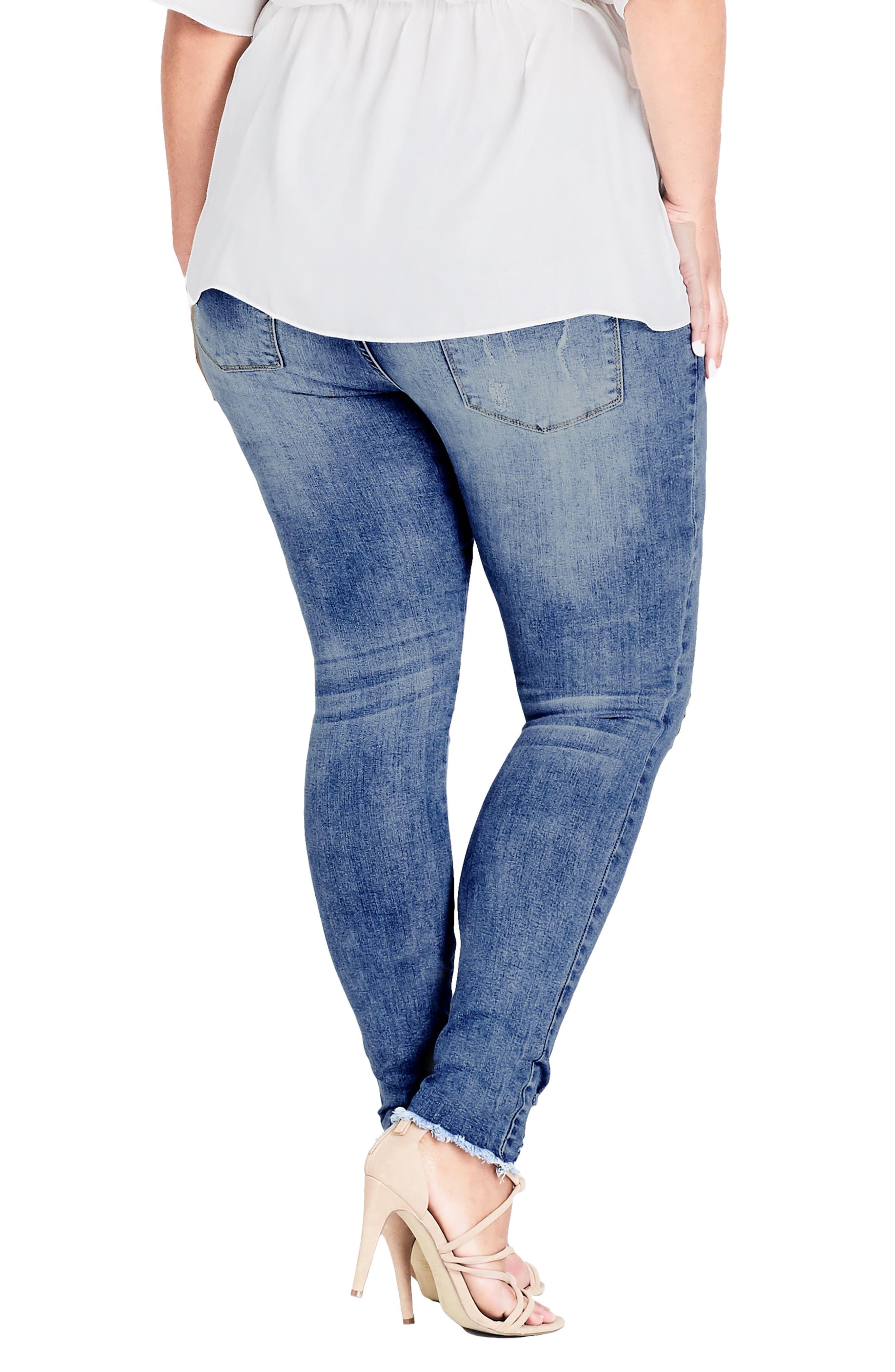 Asha Rip Detail Jeans,                             Alternate thumbnail 2, color,                             MID DENIM