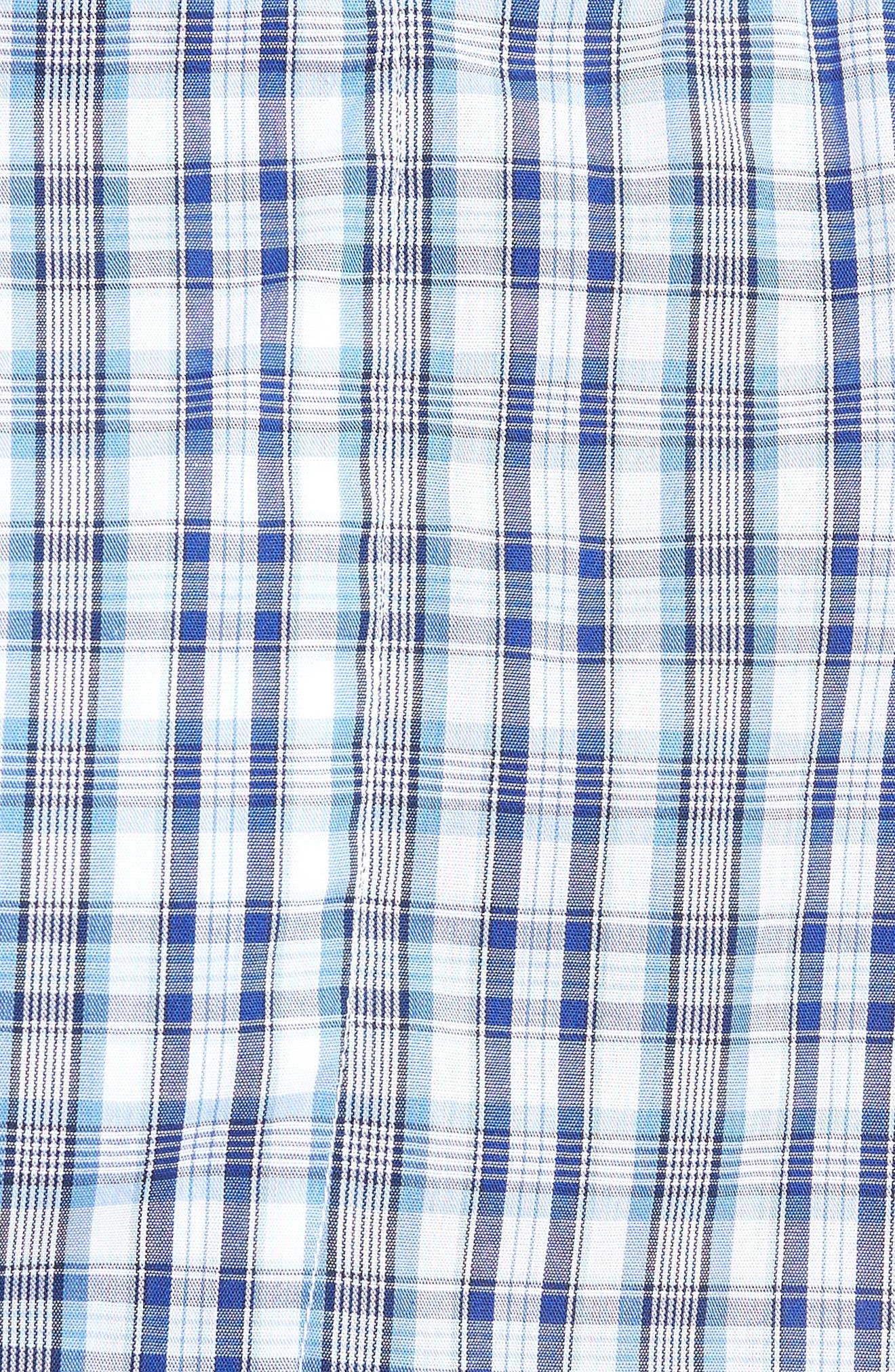 3-Pack Classic Fit Boxers,                             Alternate thumbnail 6, color,                             BLUE DAZZLE SOLID- PLAID PACK