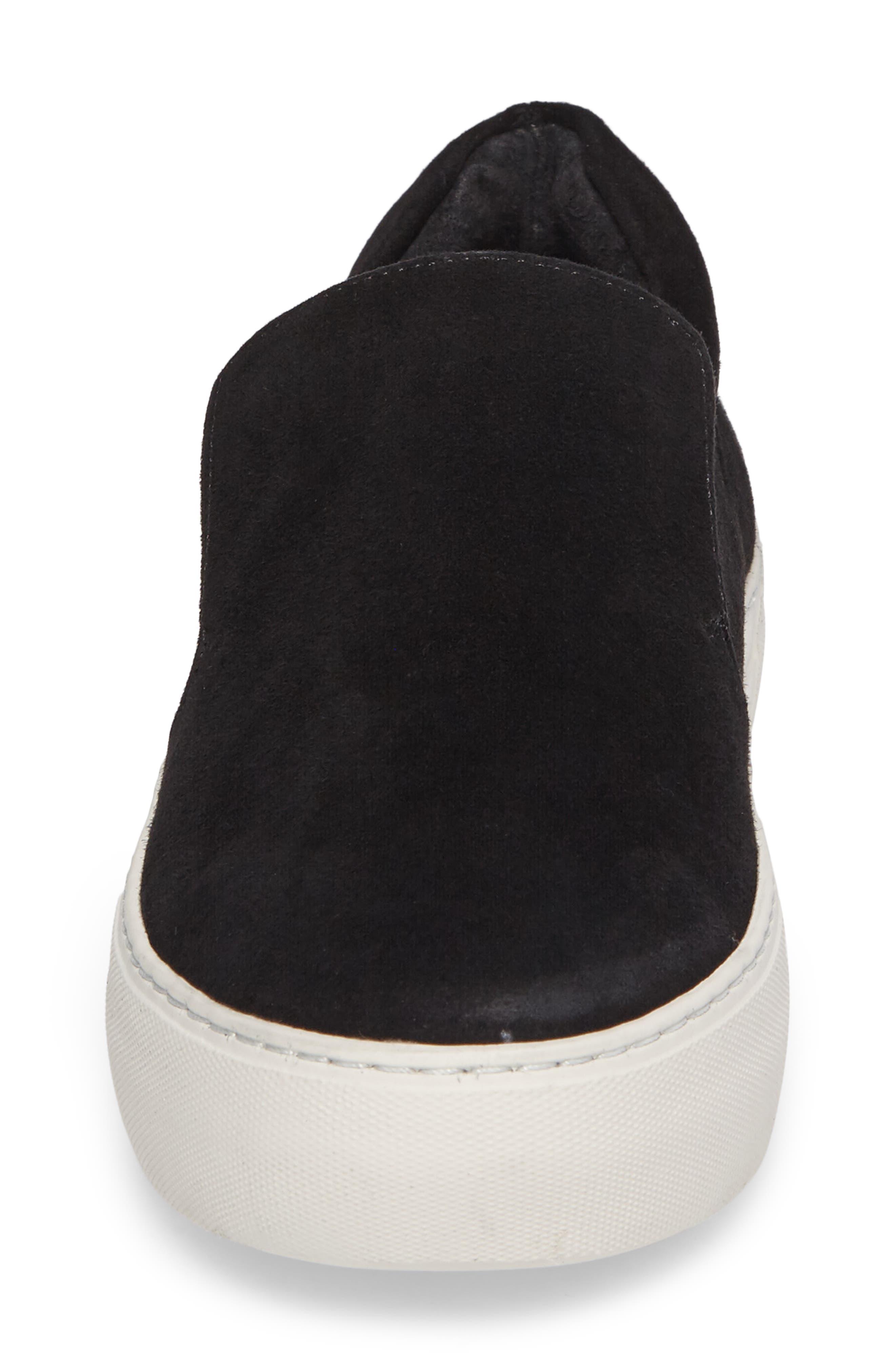 Acer Slip-On Sneaker,                             Alternate thumbnail 4, color,                             BLACK SUEDE