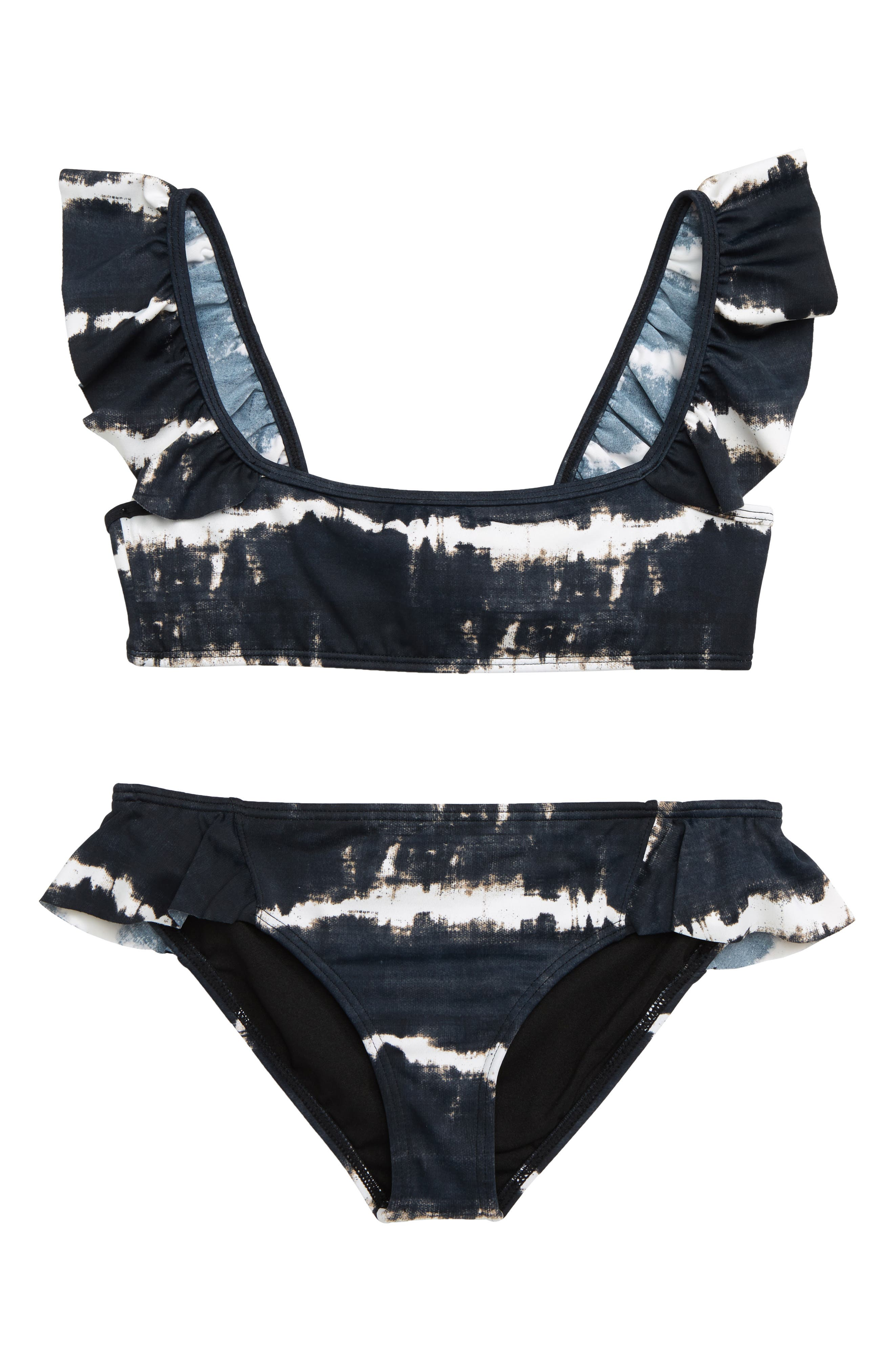 BILLABONG,                             Washed Out Ruffle Two-Piece Swimsuit,                             Main thumbnail 1, color,                             001
