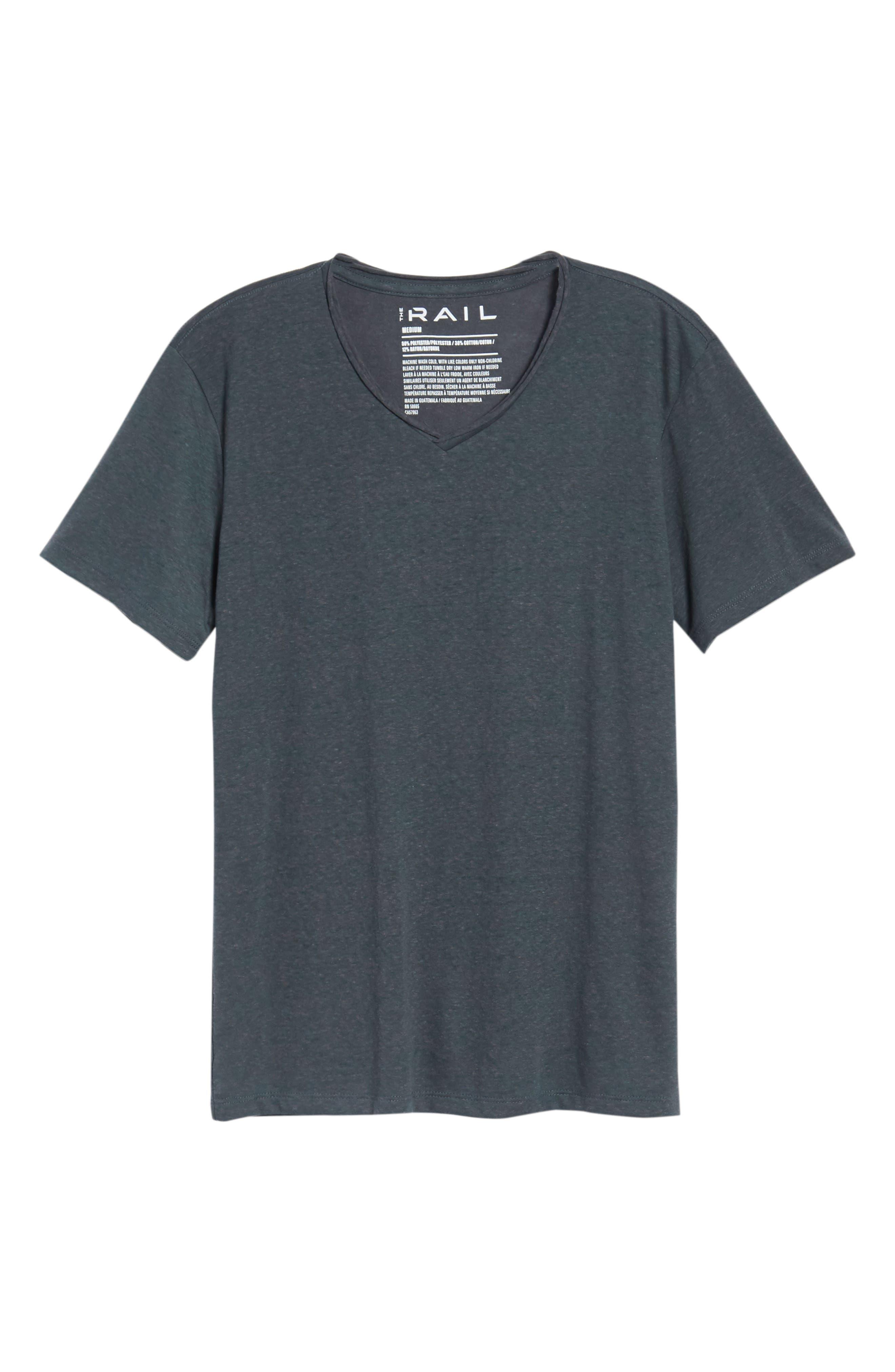 Burnout Raw Edge V-Neck T-Shirt,                             Alternate thumbnail 6, color,                             310