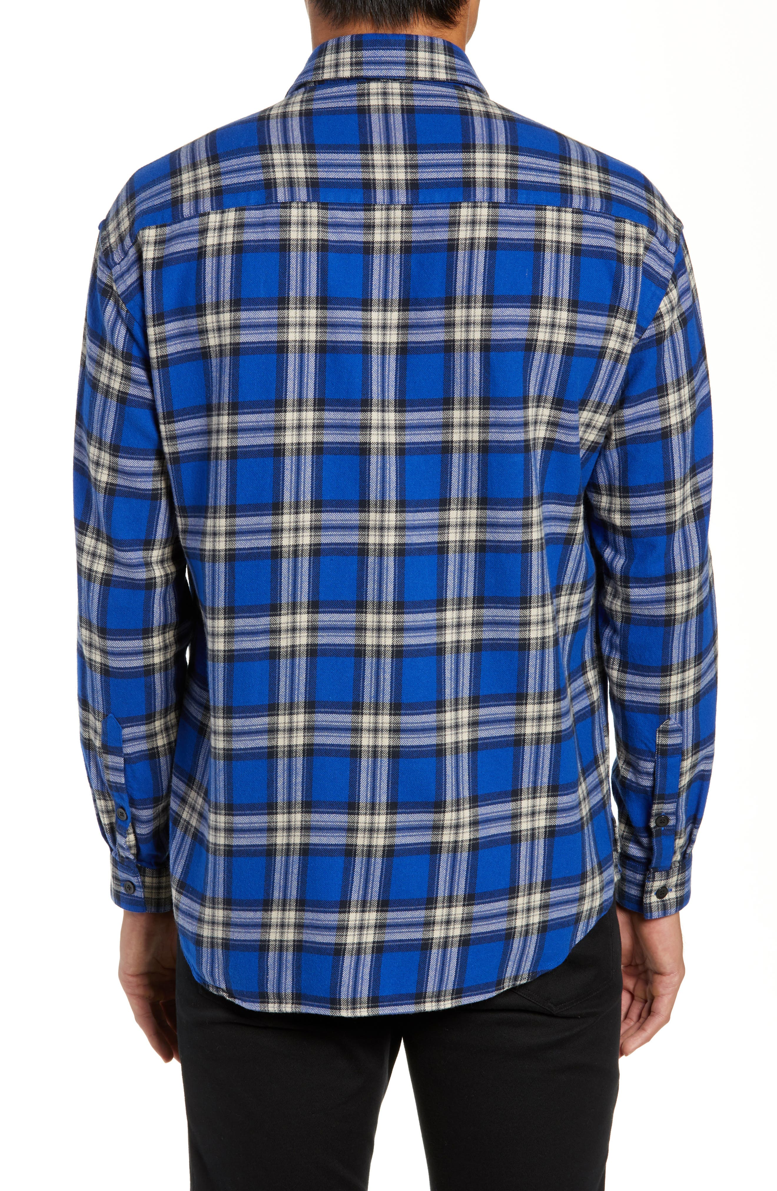 THE KOOPLES,                             Check Flannel Shirt,                             Alternate thumbnail 3, color,                             400
