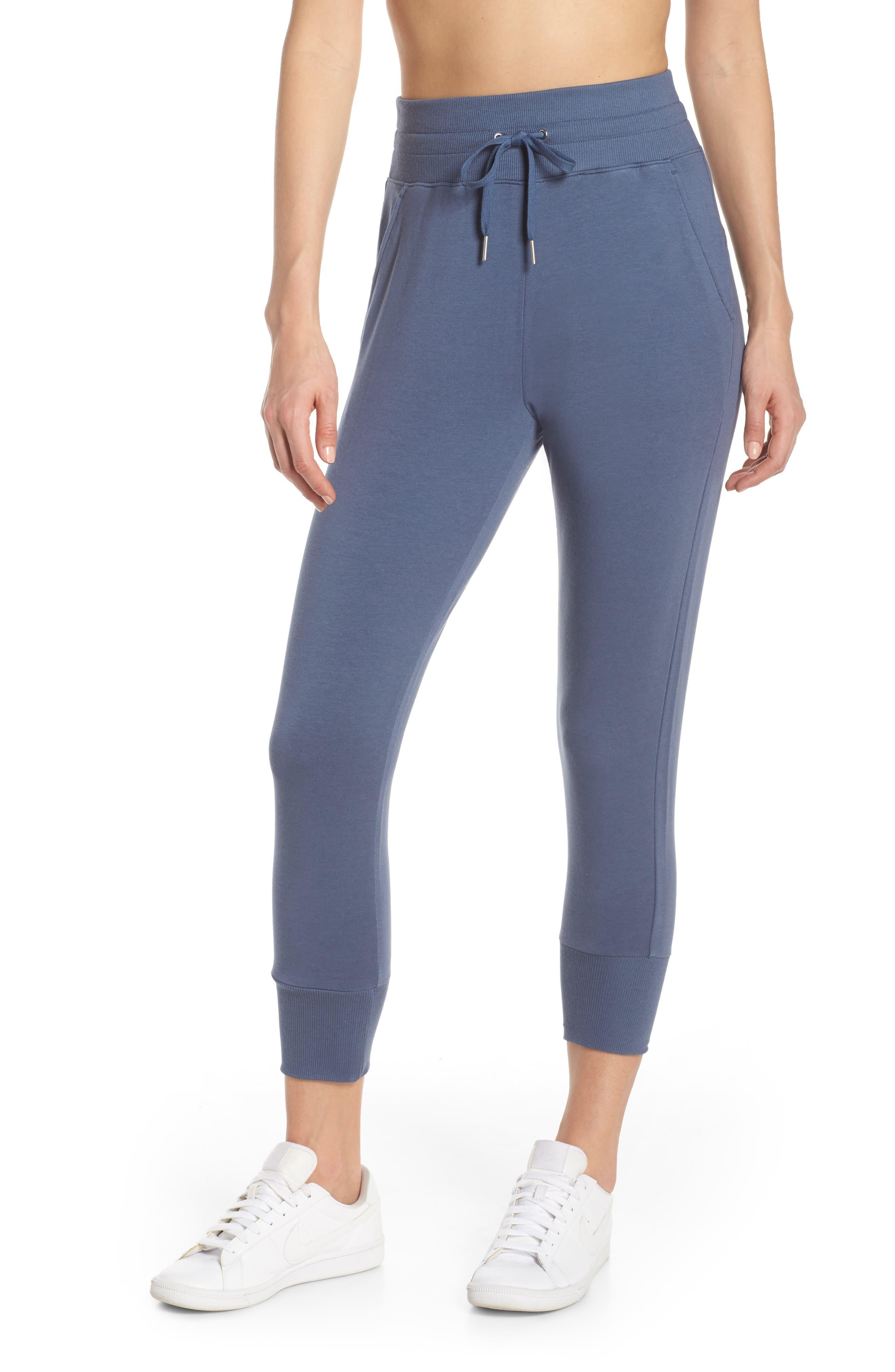 ZELLA, Repeat High Waist Crop Jogger Pants, Main thumbnail 1, color, BLUE VINTAGE