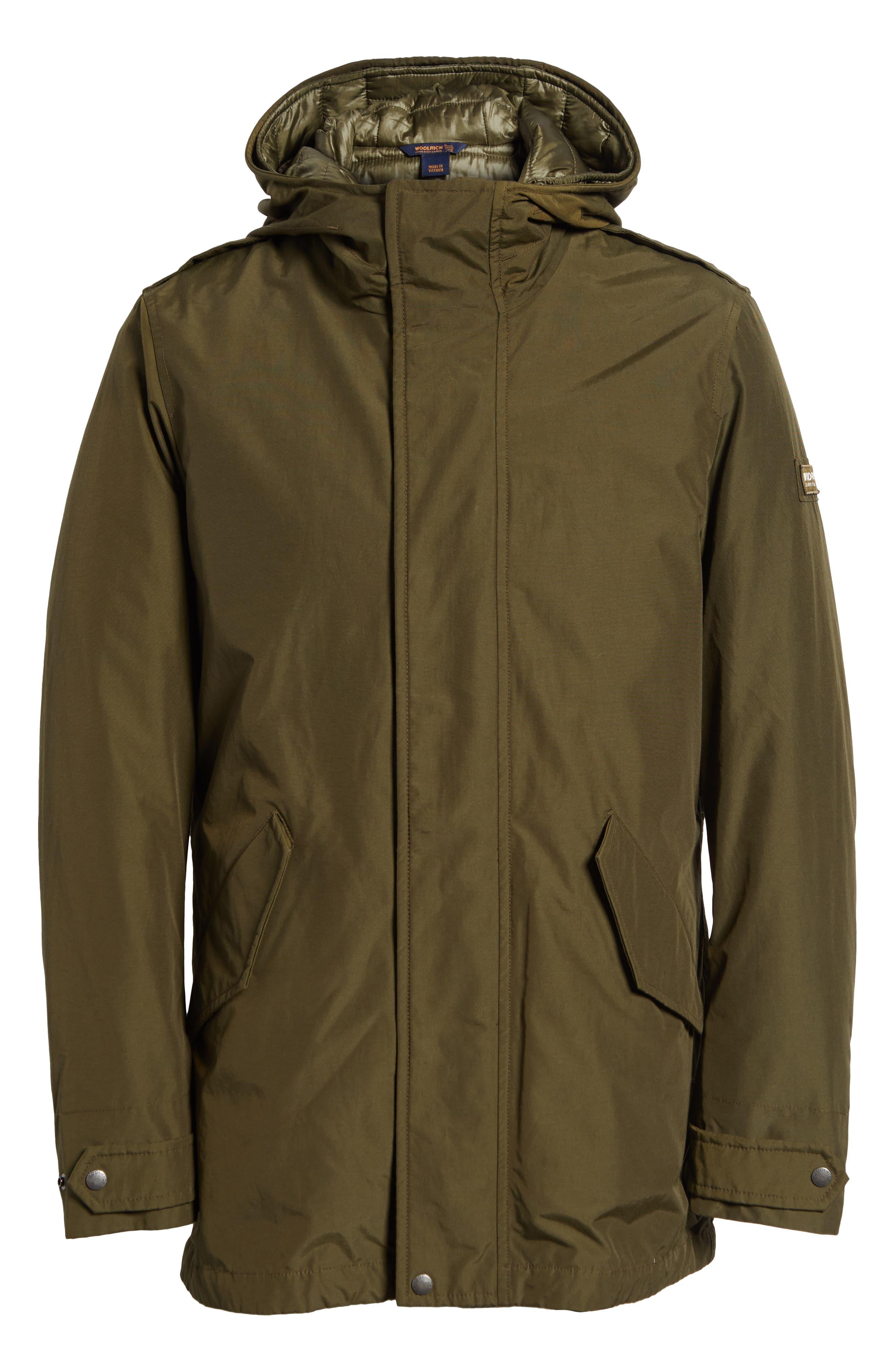 John Rich 'Long Military Eskimo' 3-in-1 Hooded Jacket,                             Alternate thumbnail 6, color,                             FLINT OLIVE