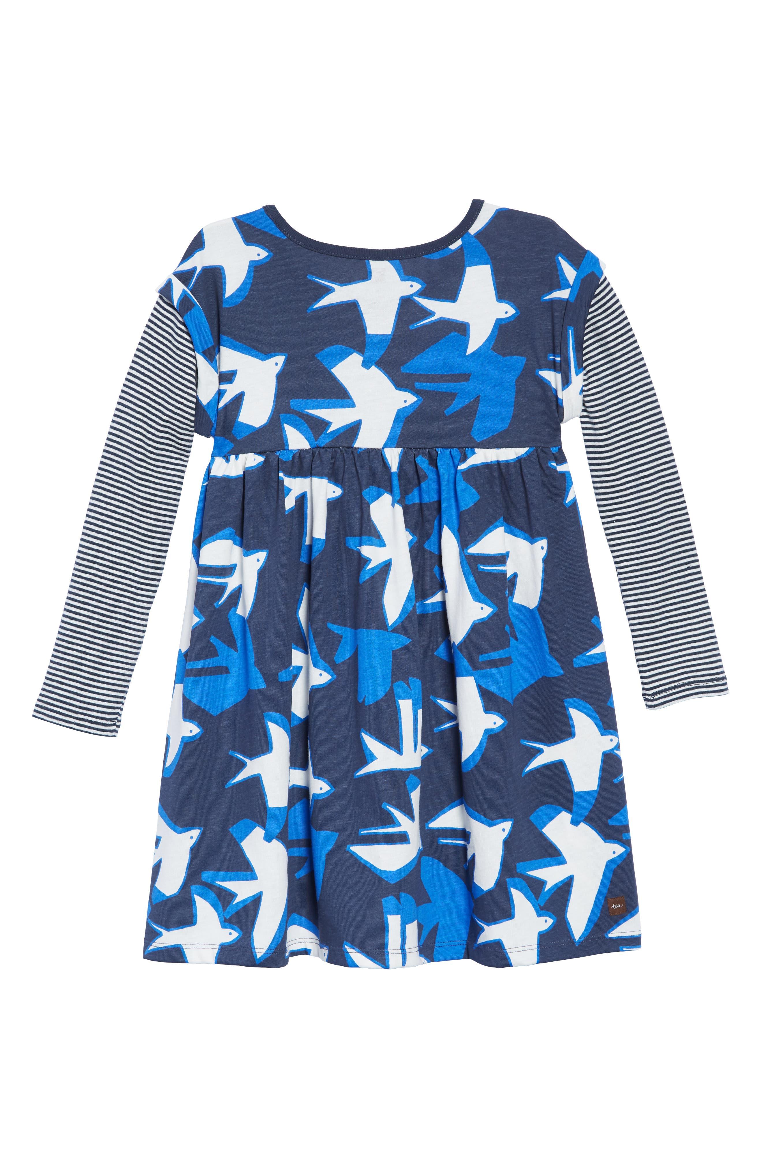 Print Layered Dress,                             Alternate thumbnail 2, color,                             400