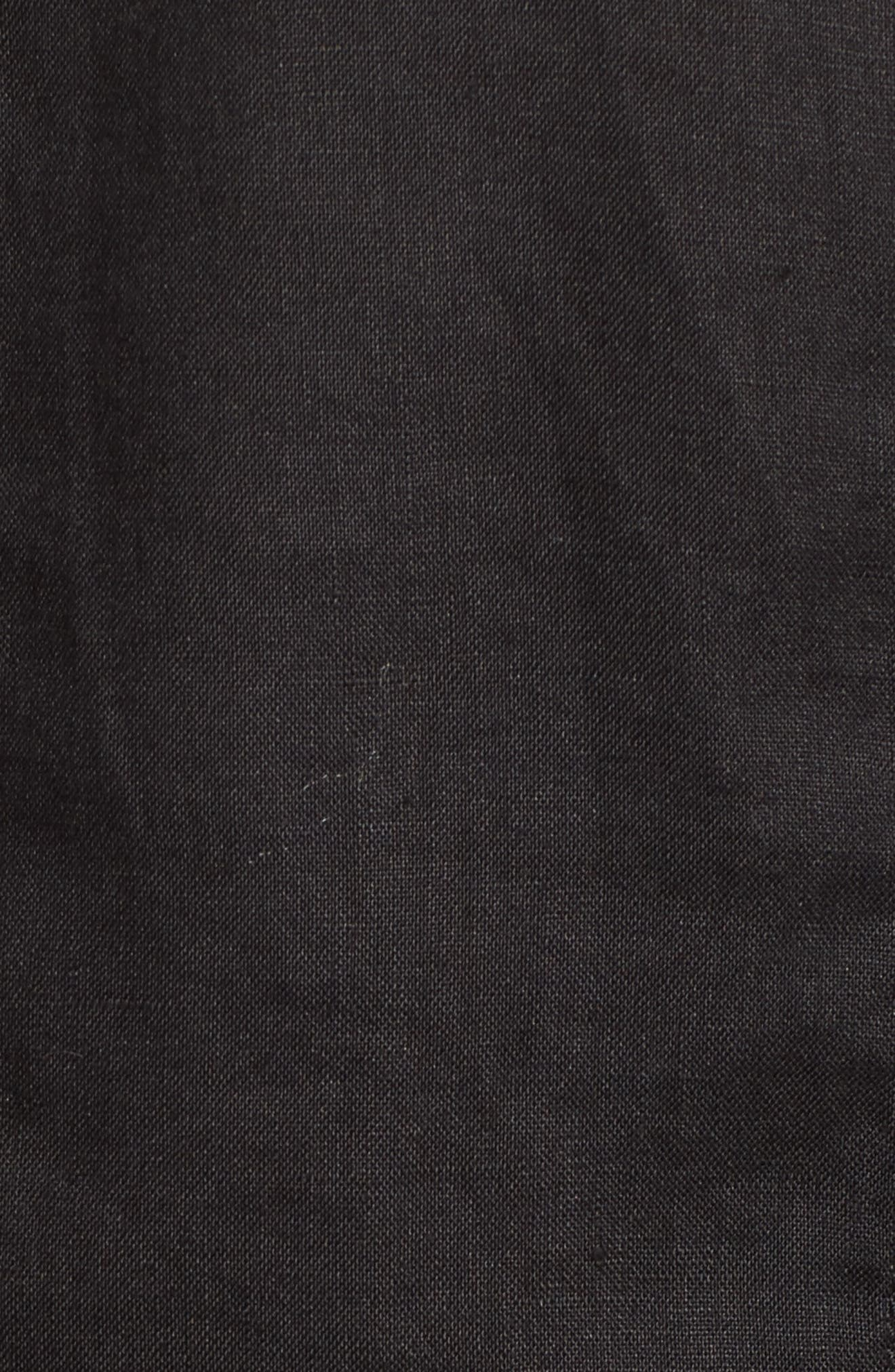 Crop Organic Linen Jacket,                             Alternate thumbnail 6, color,                             001