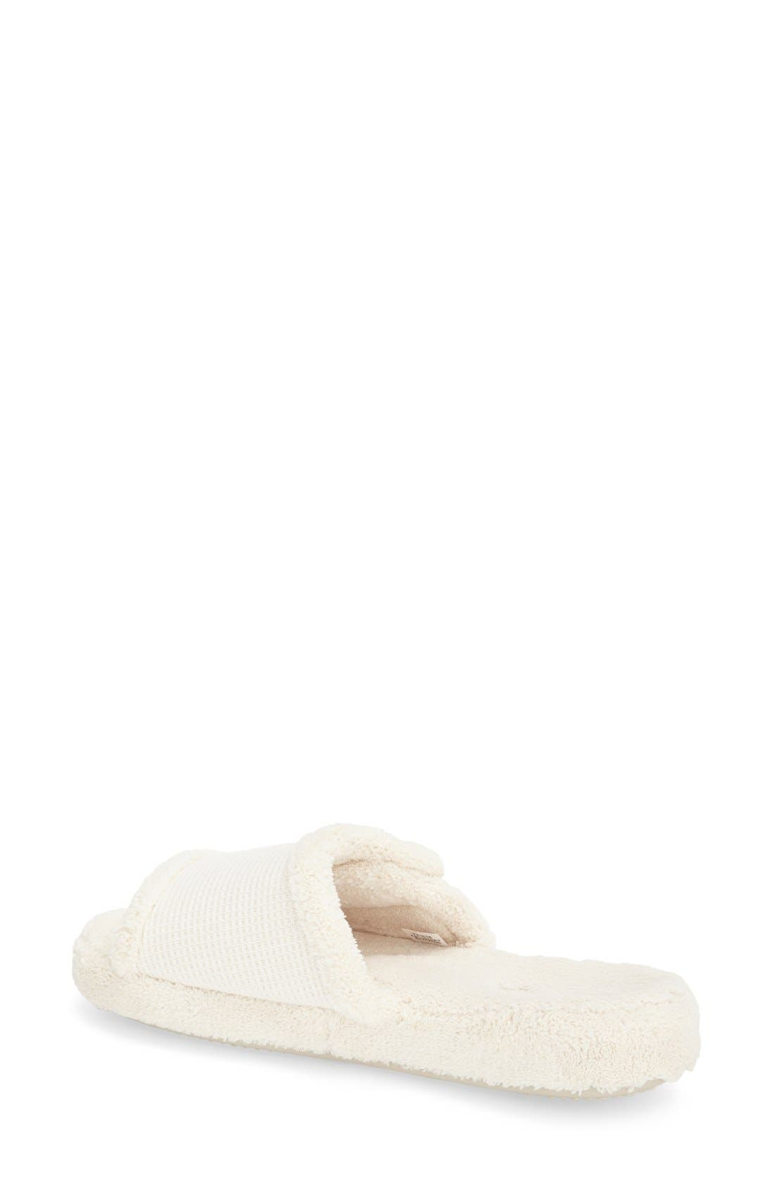'Waffle Spa Slide' Slipper,                             Alternate thumbnail 2, color,                             NATURAL