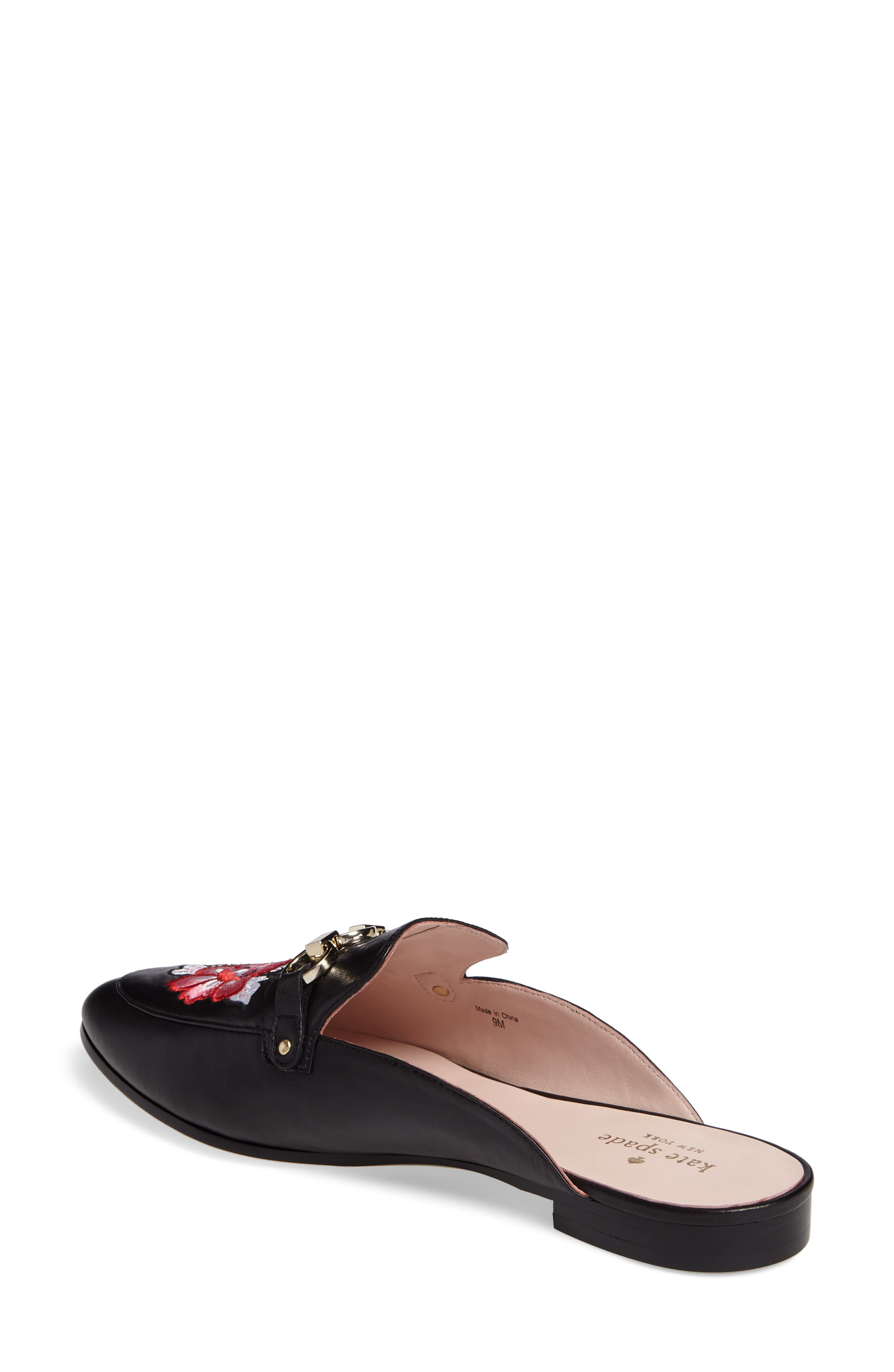 canyon embroidered loafer mule,                             Alternate thumbnail 2, color,                             001