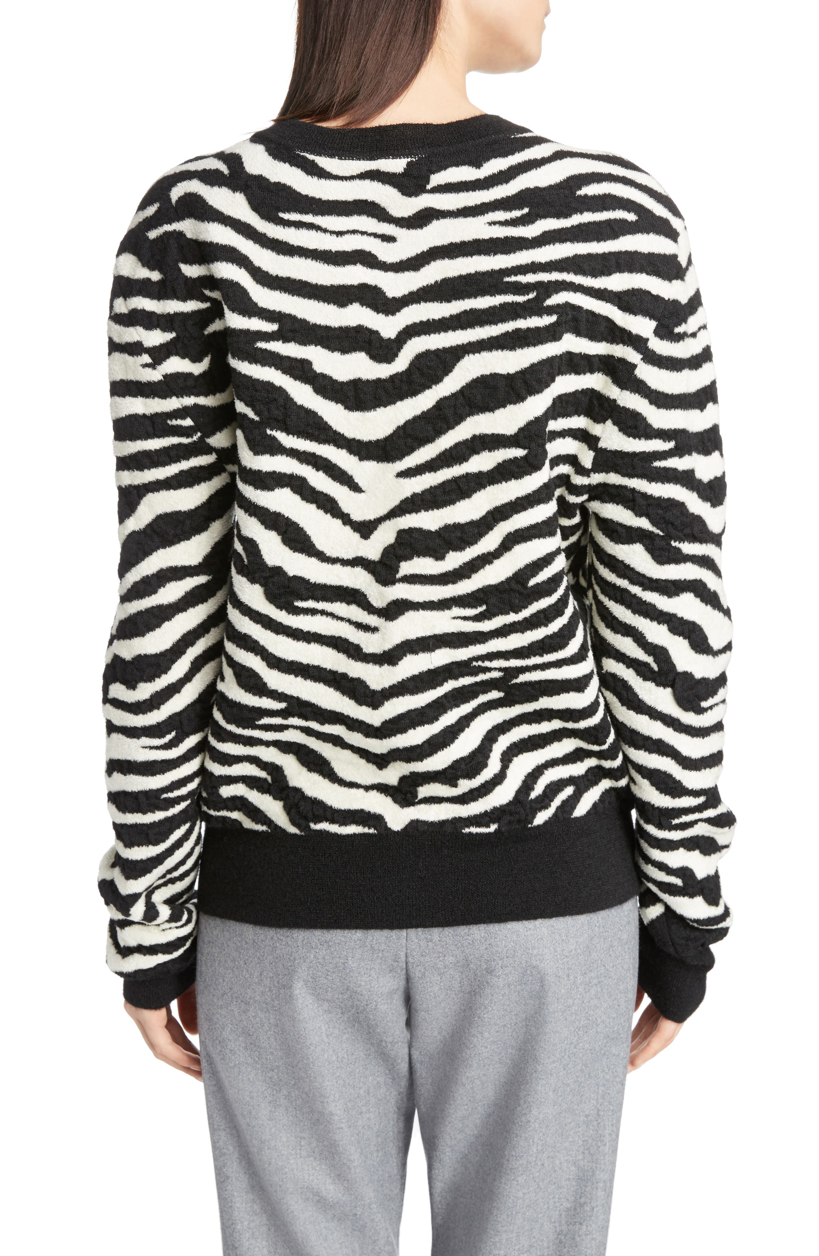 Tiger Knit Sweater,                             Alternate thumbnail 2, color,                             001