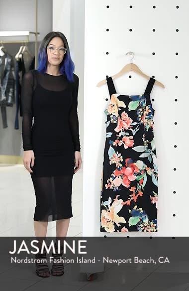 Garden Fiesta Print Scuba Sheath Dress, sales video thumbnail