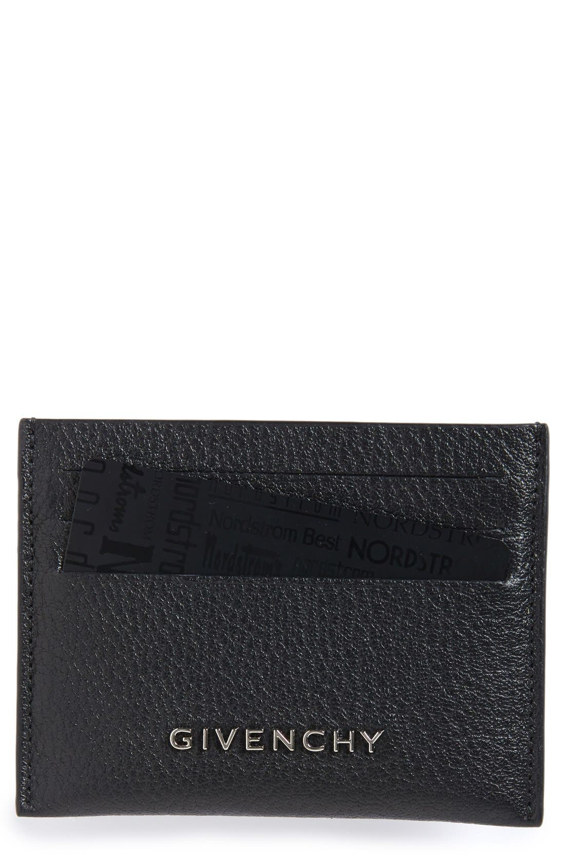 'Pandora' Card Case,                             Main thumbnail 1, color,                             BLACK