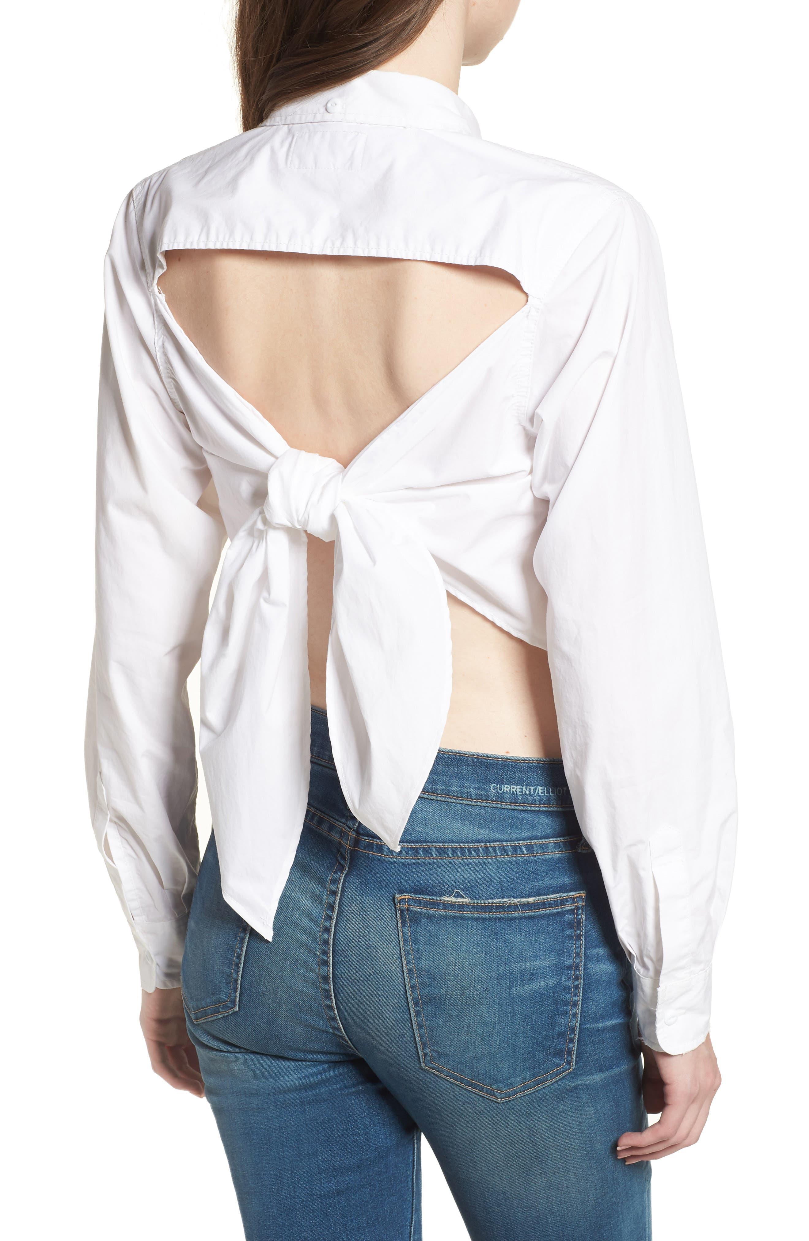 The Des Tie Back Shirt,                             Alternate thumbnail 2, color,