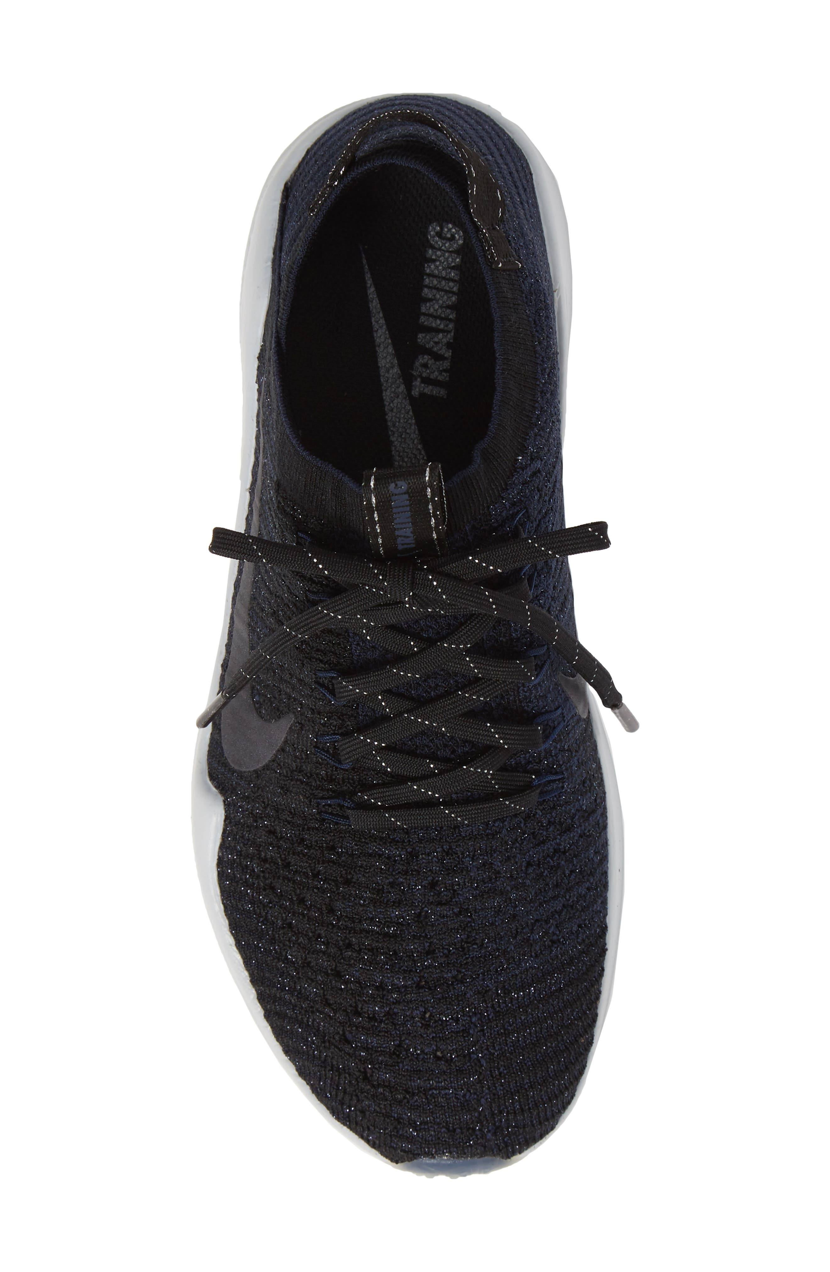Air Zoom Fearless Flyknit 2 Training Sneaker,                             Alternate thumbnail 5, color,                             BLACK/ METALLIC NAVY- NAVY