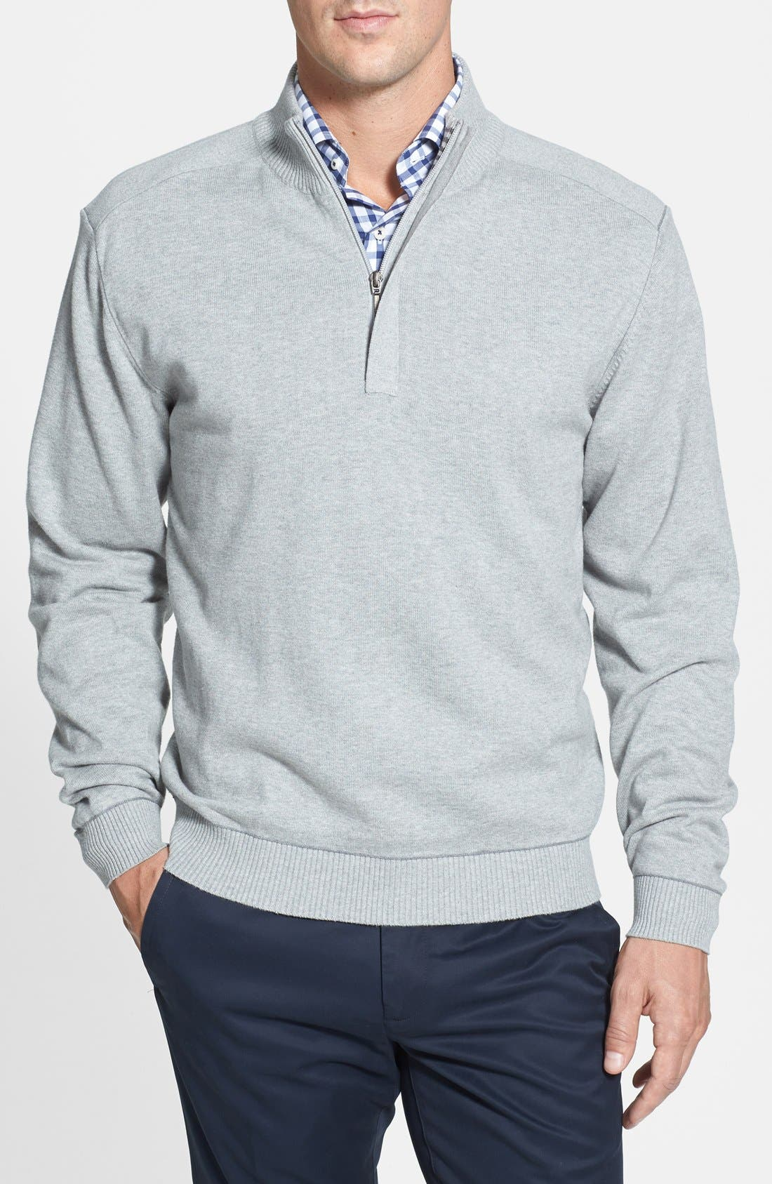 Broadview Half Zip Sweater,                             Main thumbnail 4, color,
