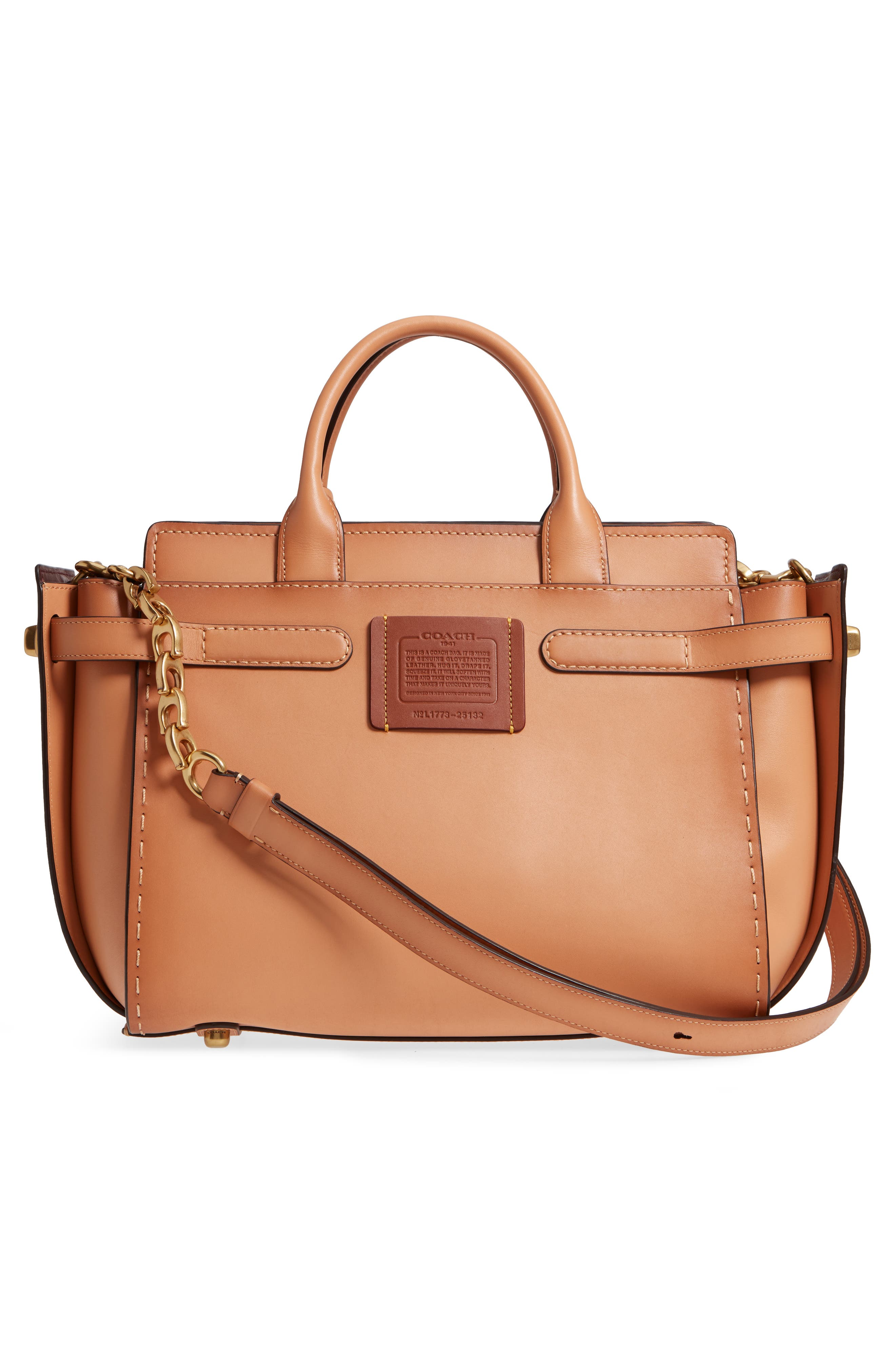 Double Swagger Leather Satchel,                             Alternate thumbnail 3, color,