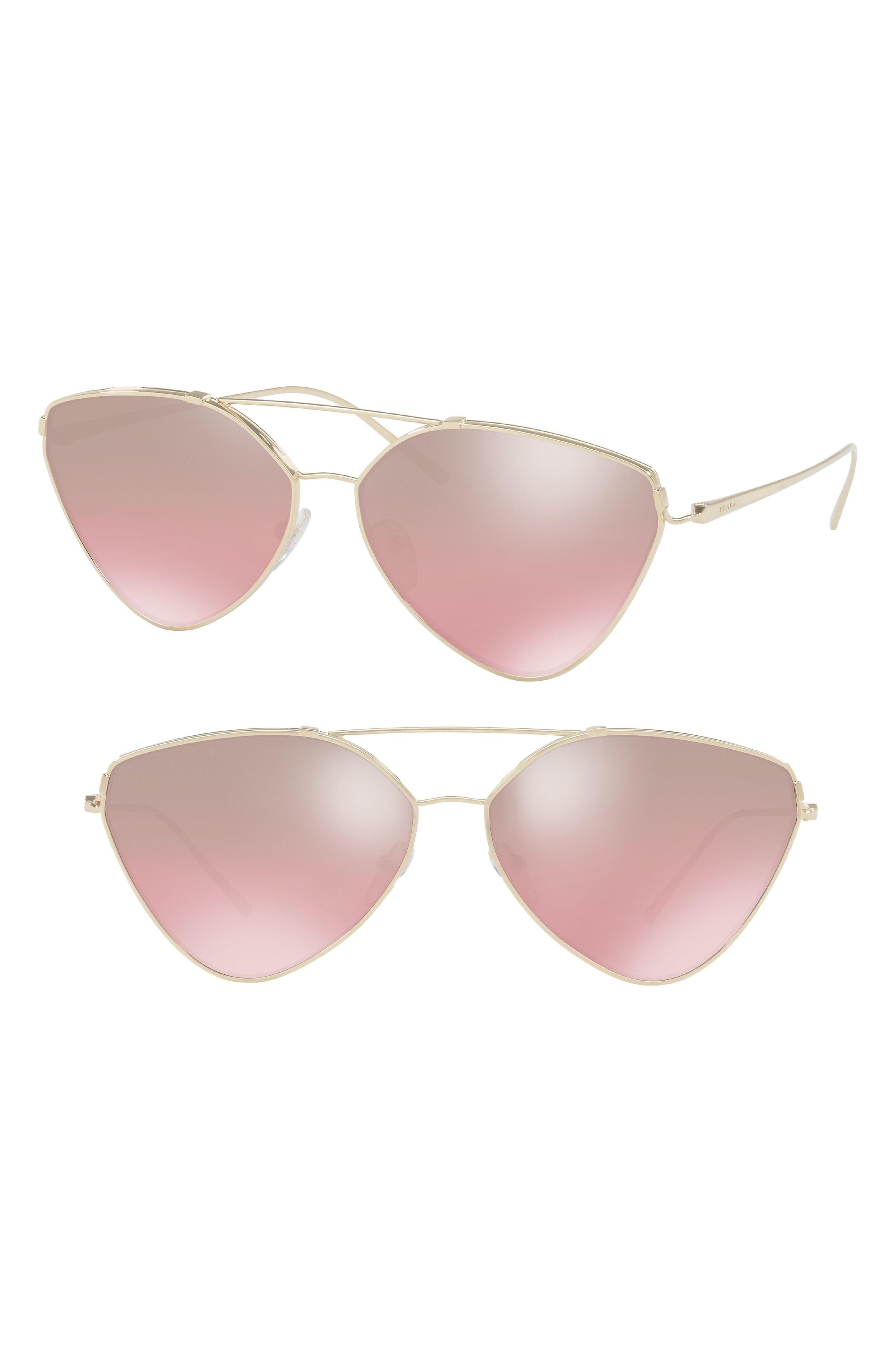 62mm Gradient Aviator Sunglasses,                             Main thumbnail 1, color,                             650