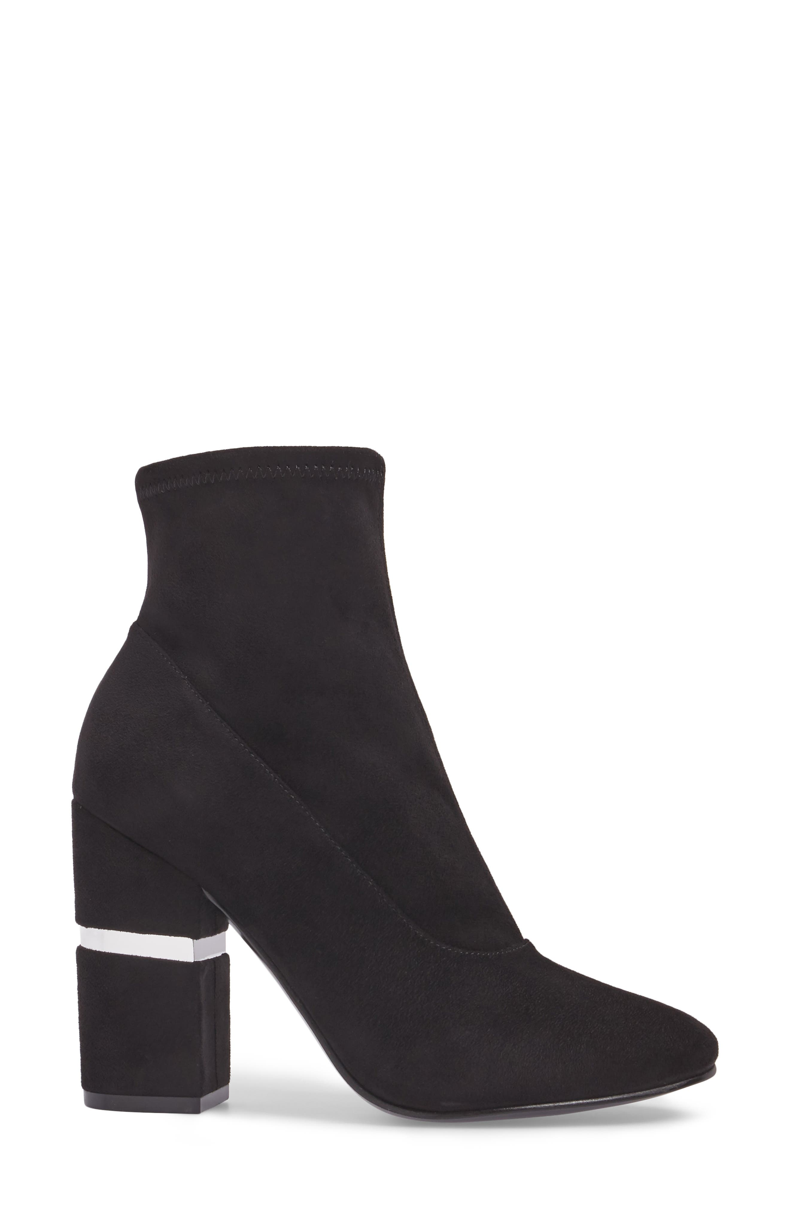 Padda Embellished Stretch Bootie,                             Alternate thumbnail 3, color,                             001