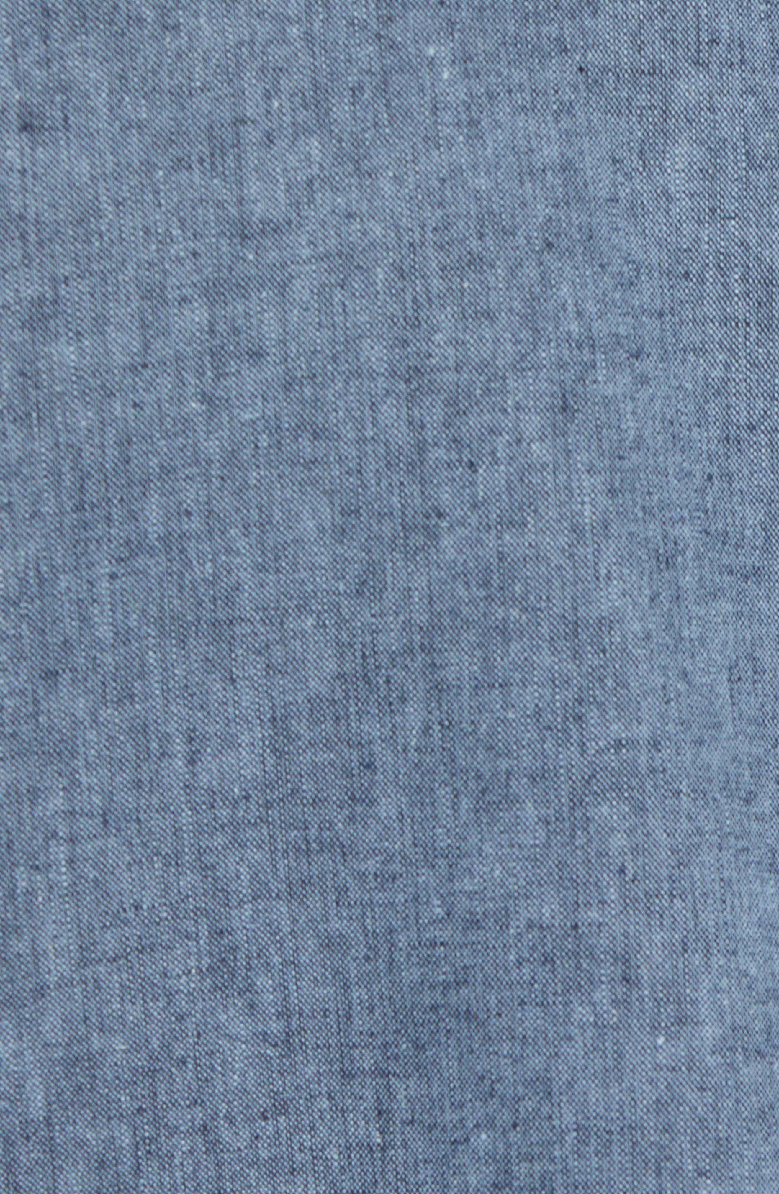Linen & Cotton Chambray Bomber Jacket,                             Alternate thumbnail 6, color,                             400