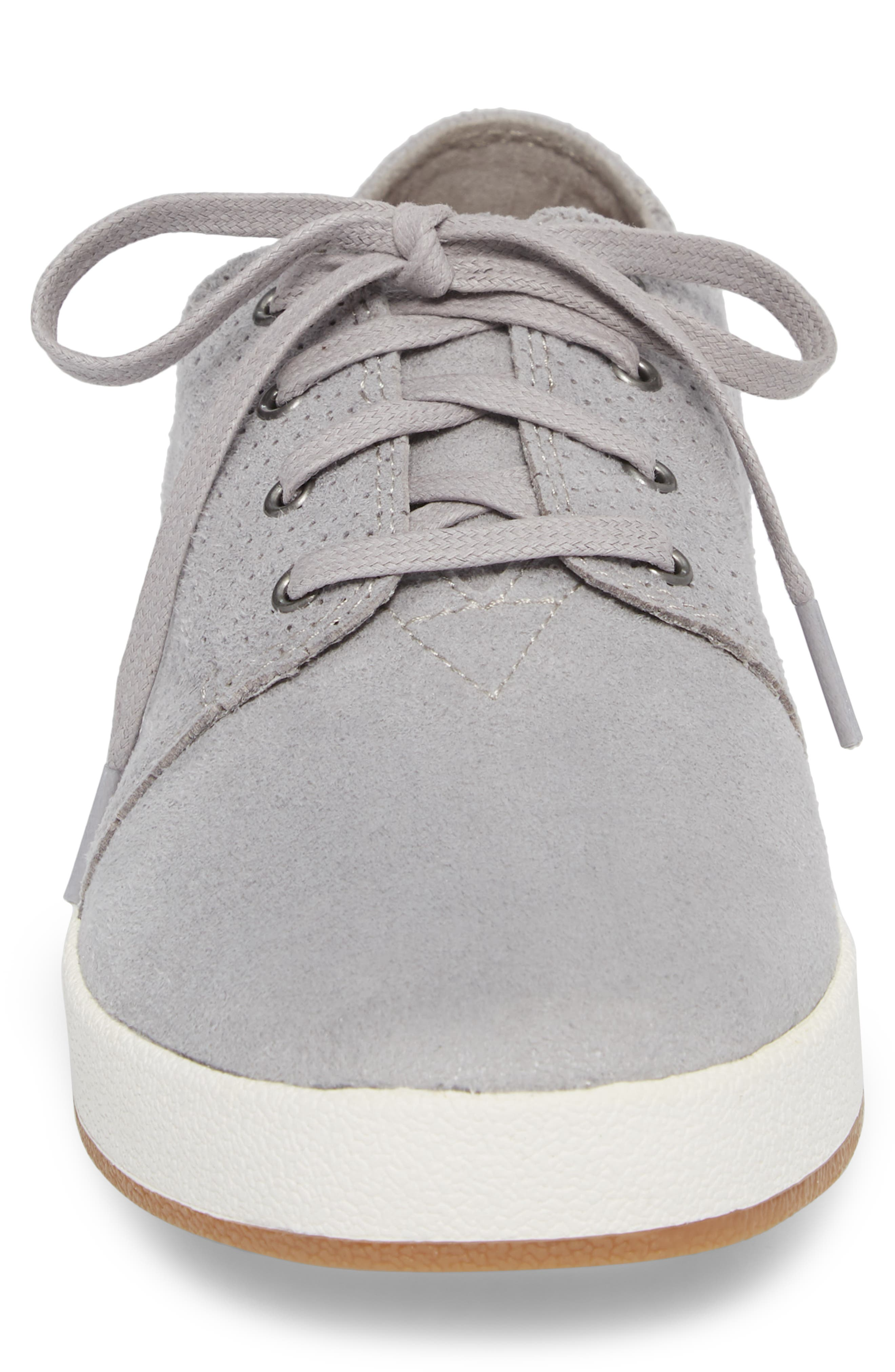 Payton Perforated Sneaker,                             Alternate thumbnail 4, color,                             DRIZZLE GREY PERFORATED