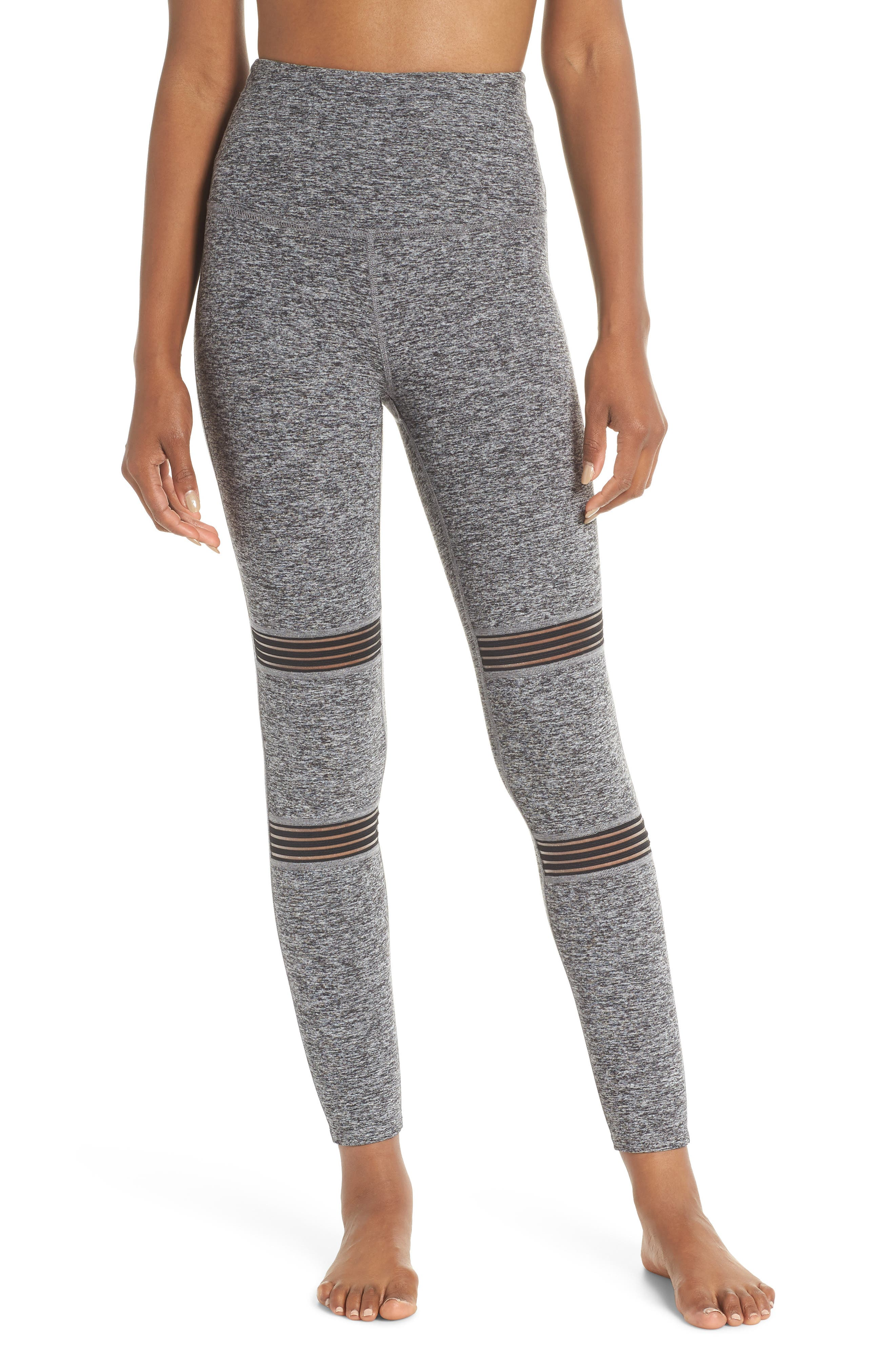 Mirage Midi High Waisted Space Dye Leggings,                         Main,                         color, 019