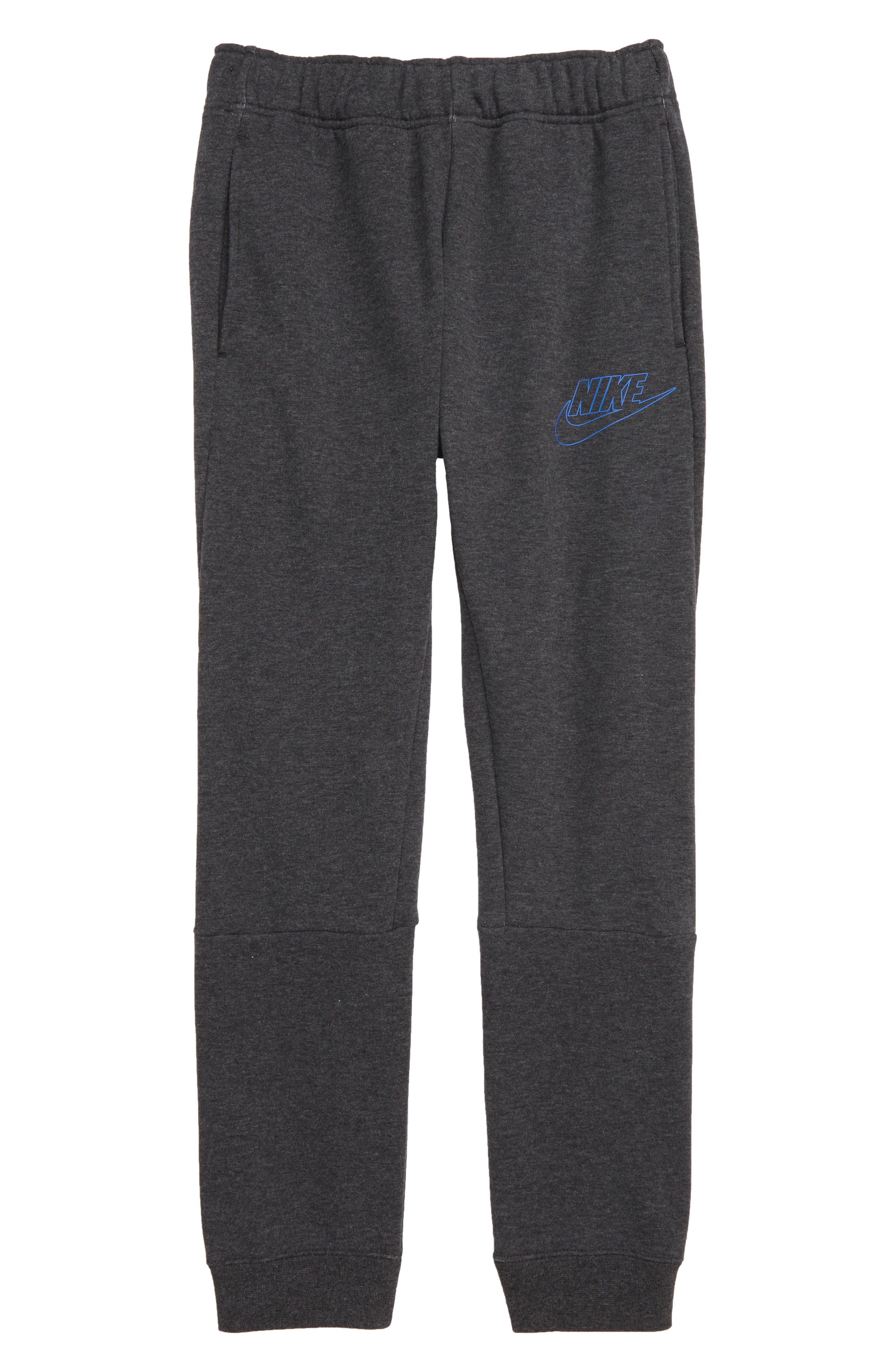 Sportswear My Nike Sweatpants,                         Main,                         color, BLACK HEATHER/ GAME ROYAL