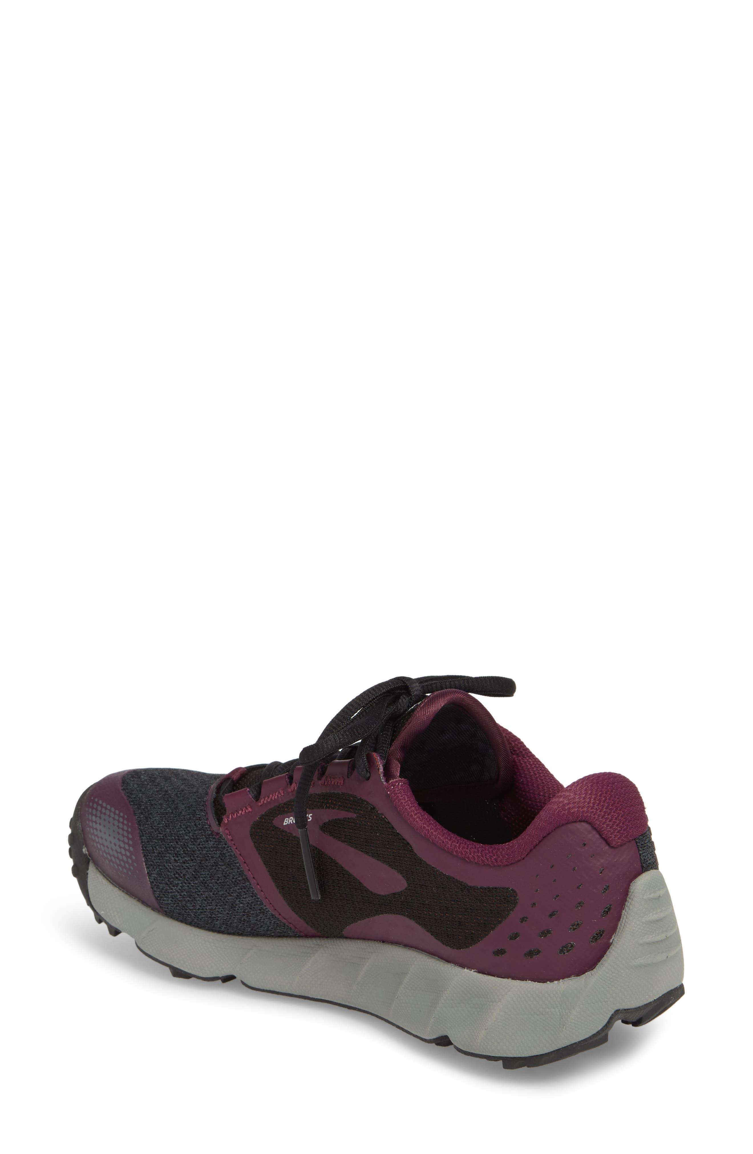 PureGrit 7 Trail Running Shoe,                             Alternate thumbnail 2, color,                             BLACK/ PURPLE/ GREY