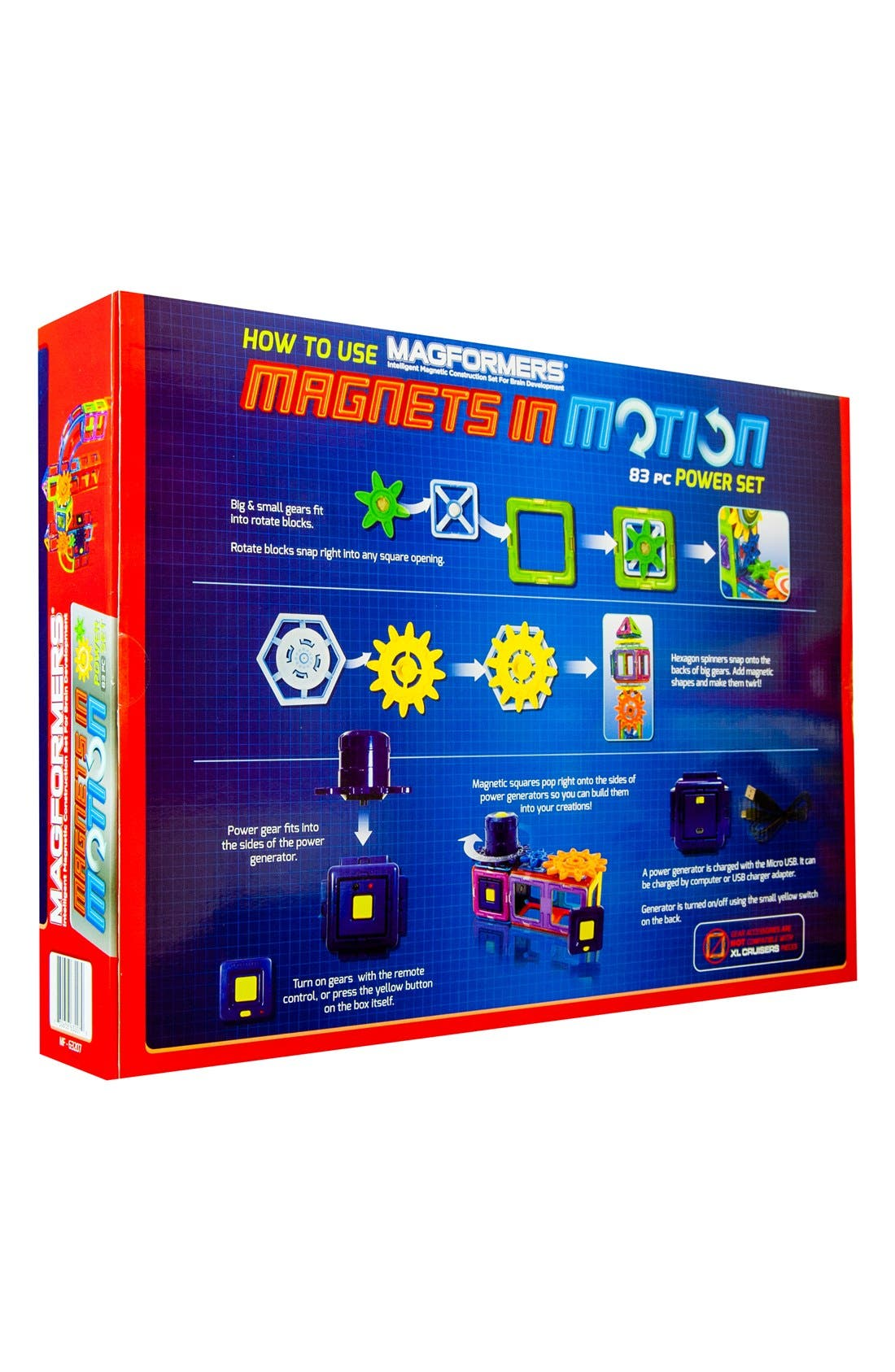 MAGFORMERS,                             'Magnets in Motion' Magnetic 3D Construction Set,                             Alternate thumbnail 2, color,                             MULTI