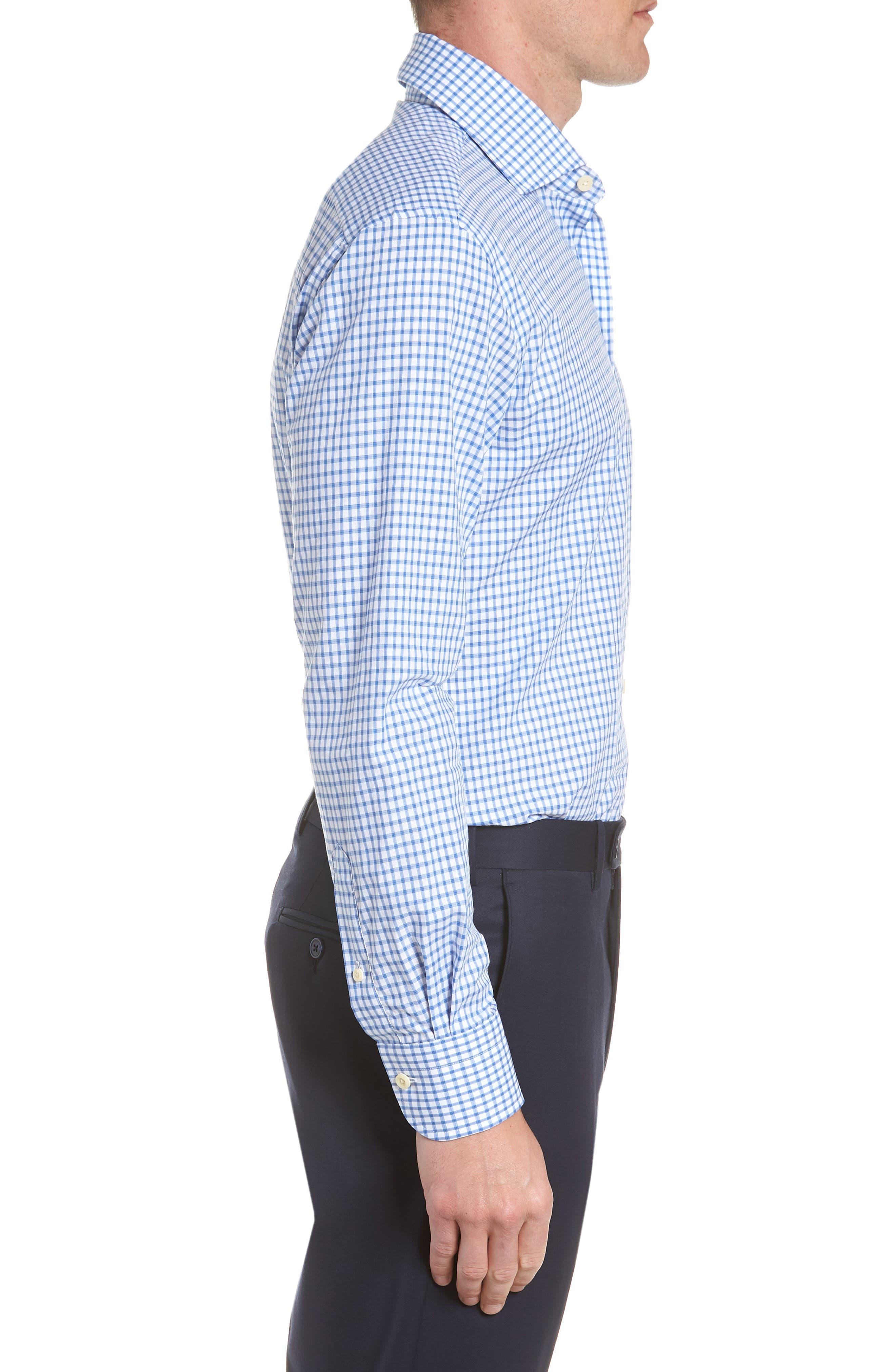 Garrison Slim Fit Check Dress Shirt,                             Alternate thumbnail 4, color,