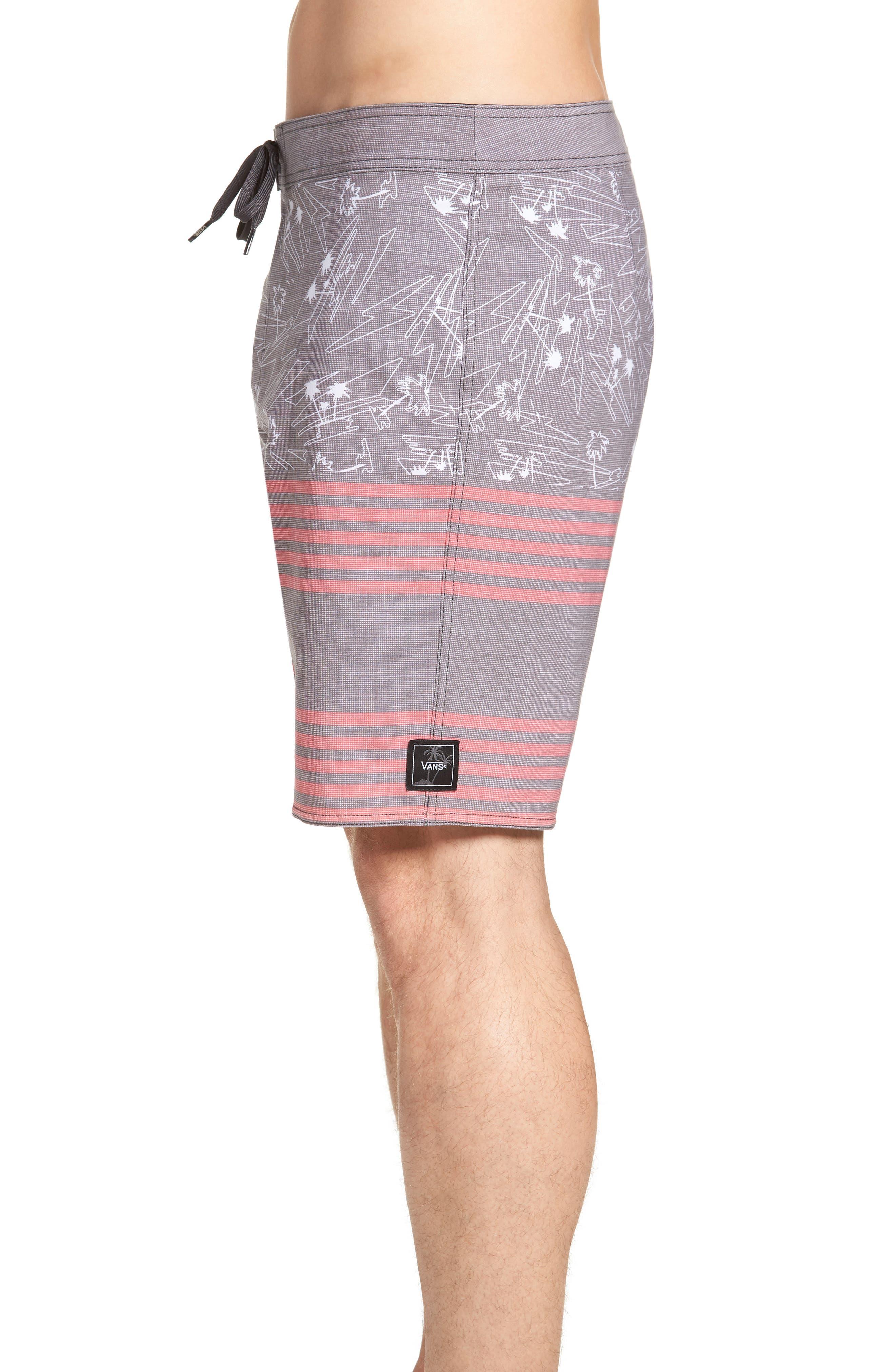 Era Board Shorts,                             Alternate thumbnail 3, color,                             BLACK ISLAND BEACH