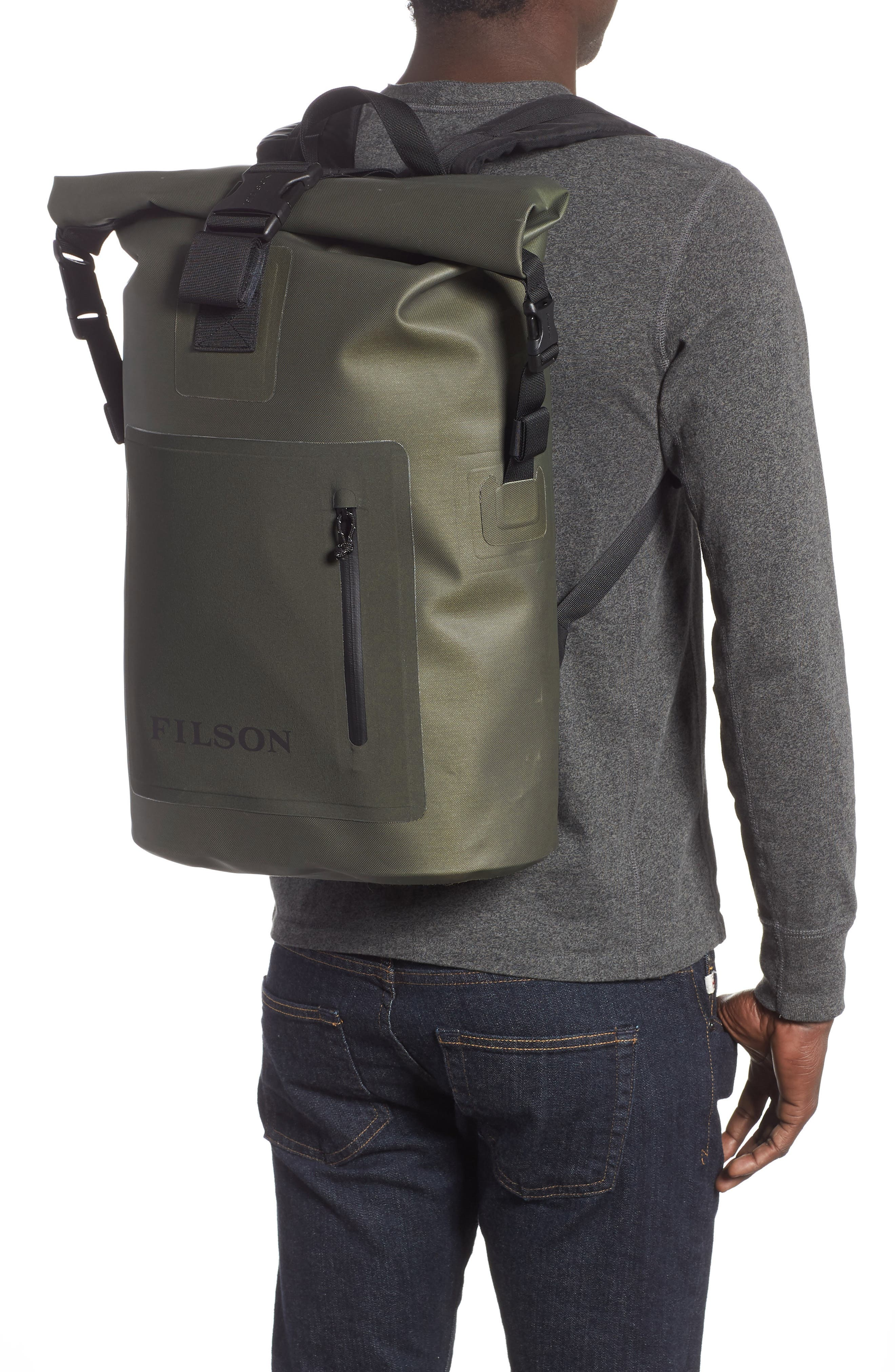 Dry Waterproof Backpack,                             Alternate thumbnail 2, color,                             GREEN