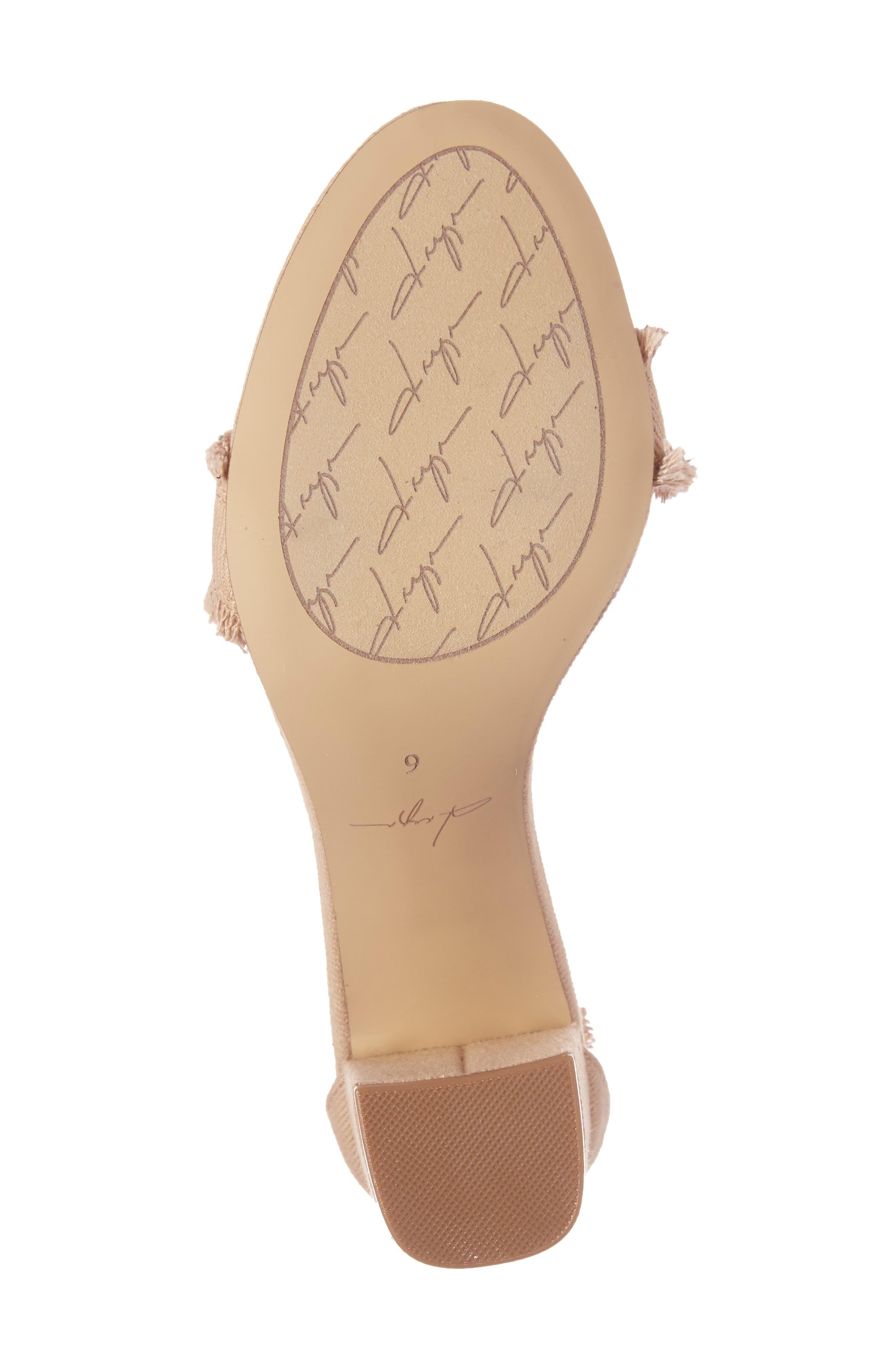 by Zendaya Shasta Fringe Denim Ankle Strap Sandal,                             Alternate thumbnail 11, color,