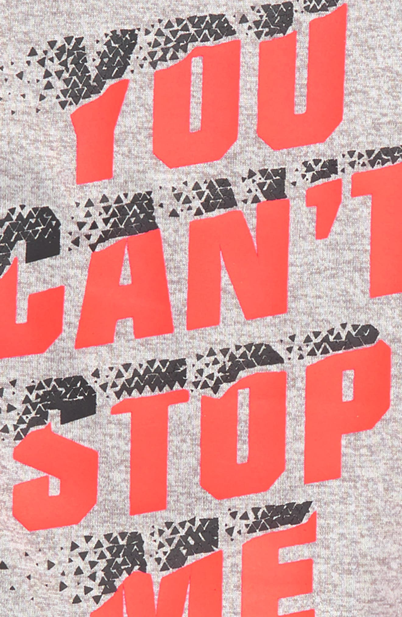 You Can't Stop Me HeatGear<sup>®</sup> Shirt & Shorts Set,                             Alternate thumbnail 2, color,                             TRUE GREY HEATHER