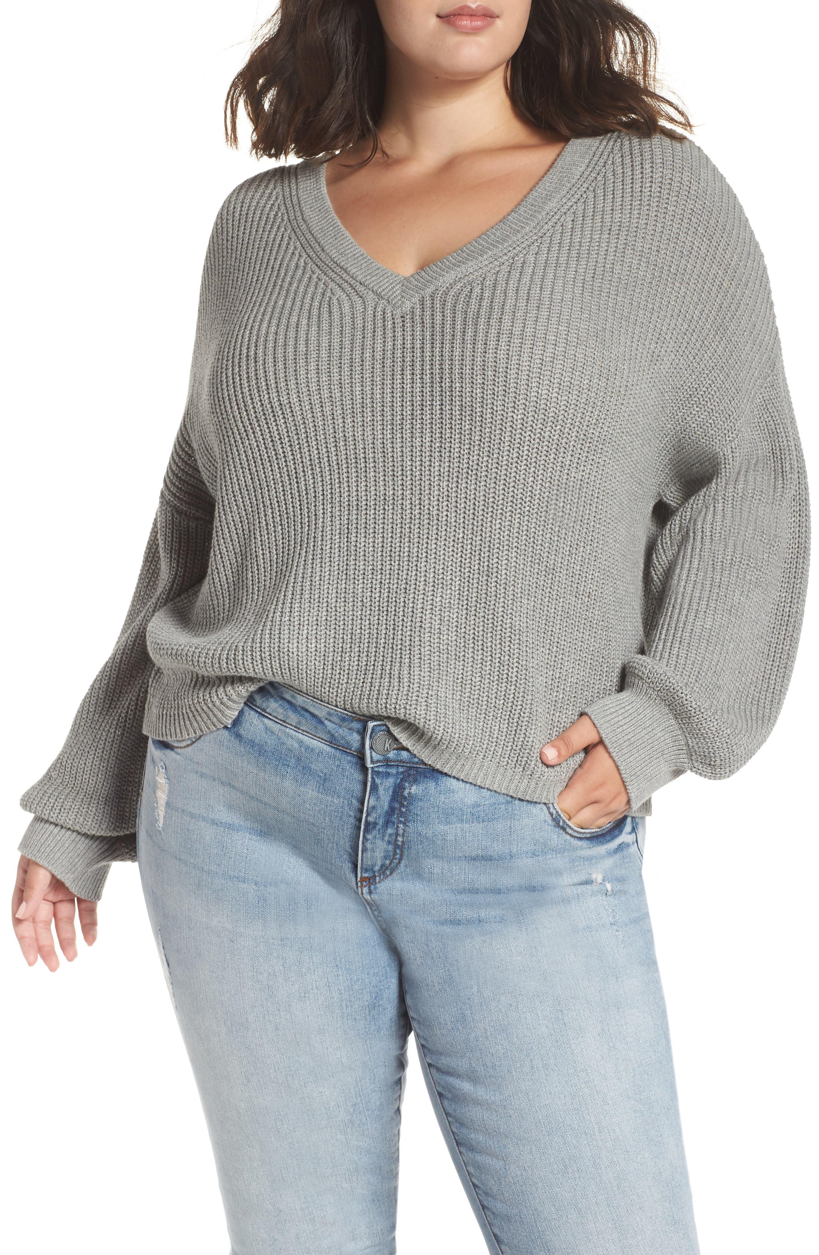 V Neck Cotton Sweater,                             Alternate thumbnail 2, color,                             030