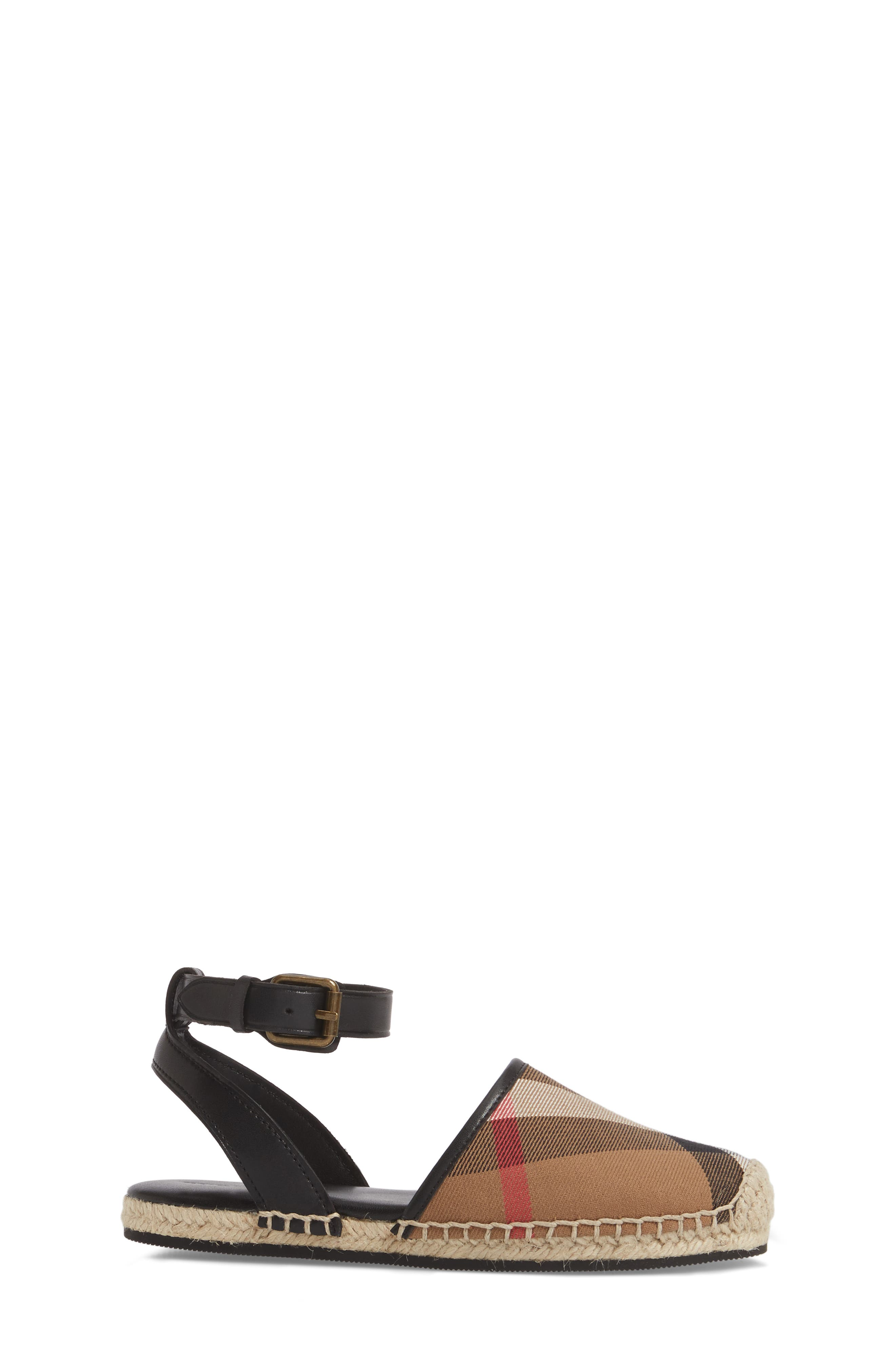 Perth Ankle Strap Sandal,                             Alternate thumbnail 3, color,                             BLACK