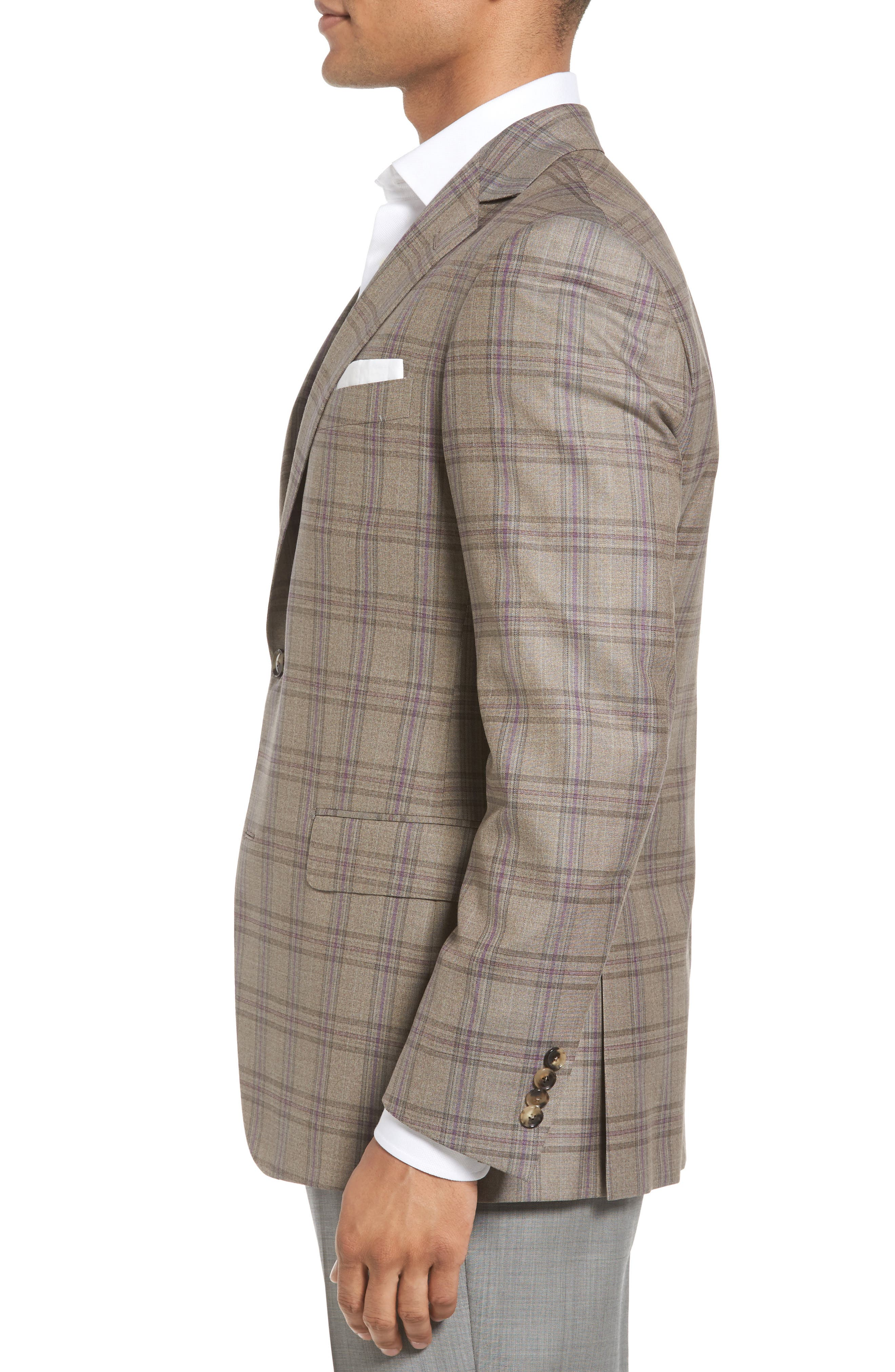 Classic Fit Plaid Wool Sport Coat,                             Alternate thumbnail 3, color,                             249