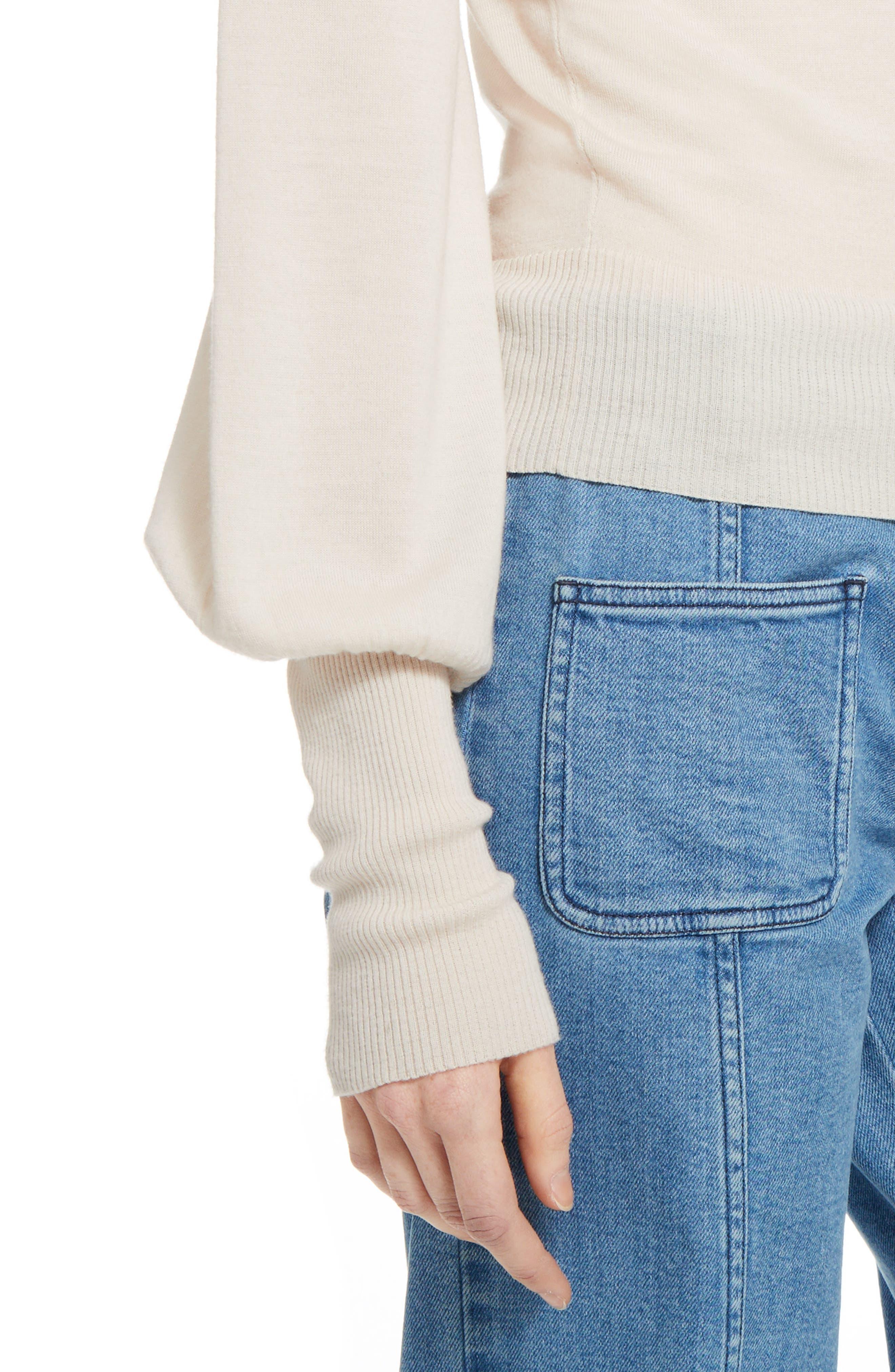 Wool Turtleneck Sweater,                             Alternate thumbnail 4, color,                             901
